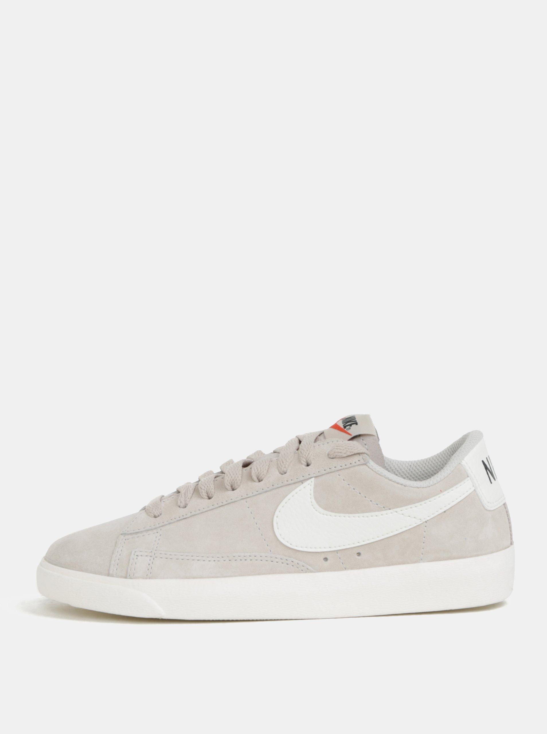 314dd18d38b0 Svetlosivé dámske semišové tenisky Nike Blazer Low