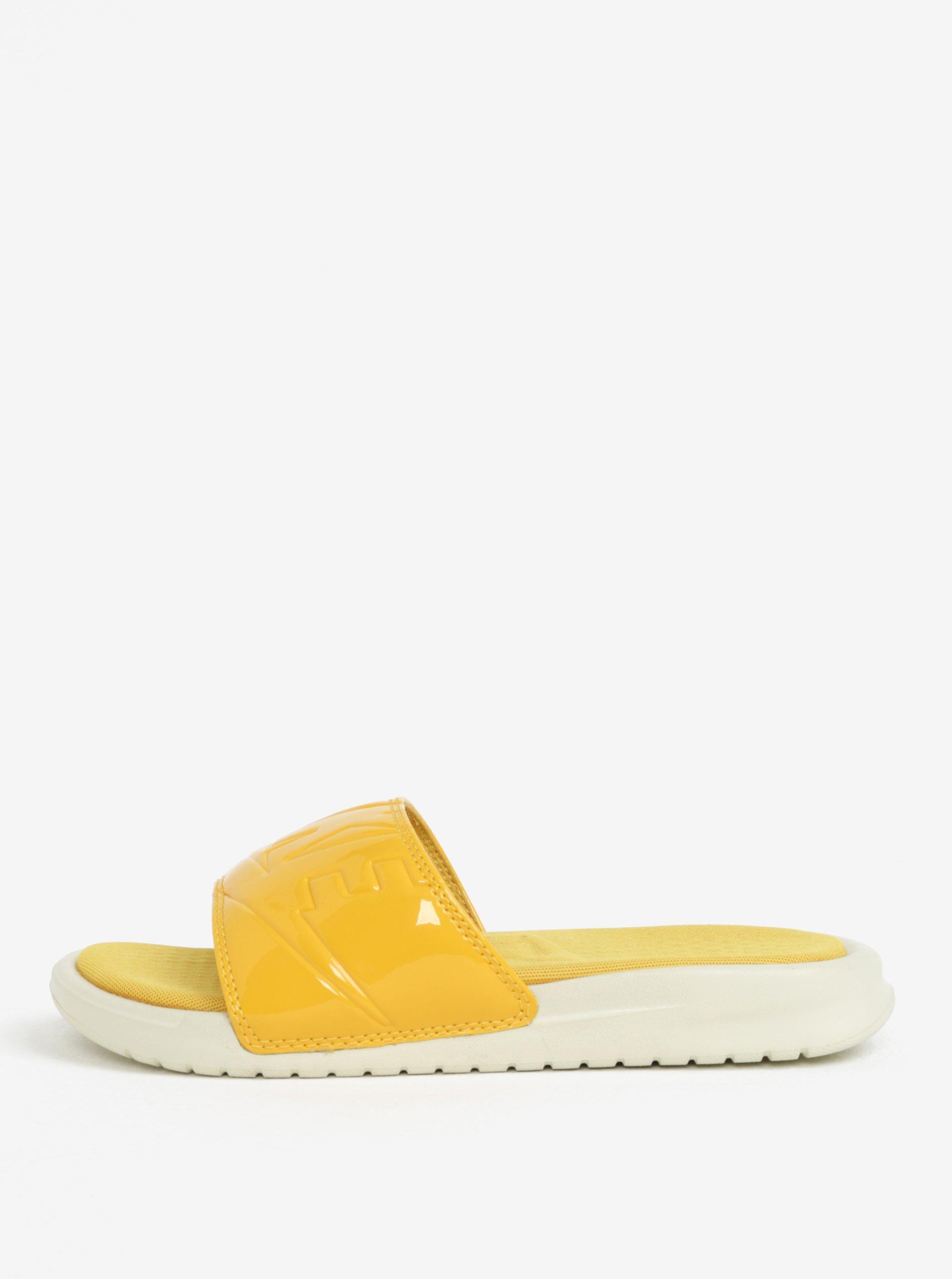 9d175e7ceac Žluté dámské pantofle Nike Benassi Jdi