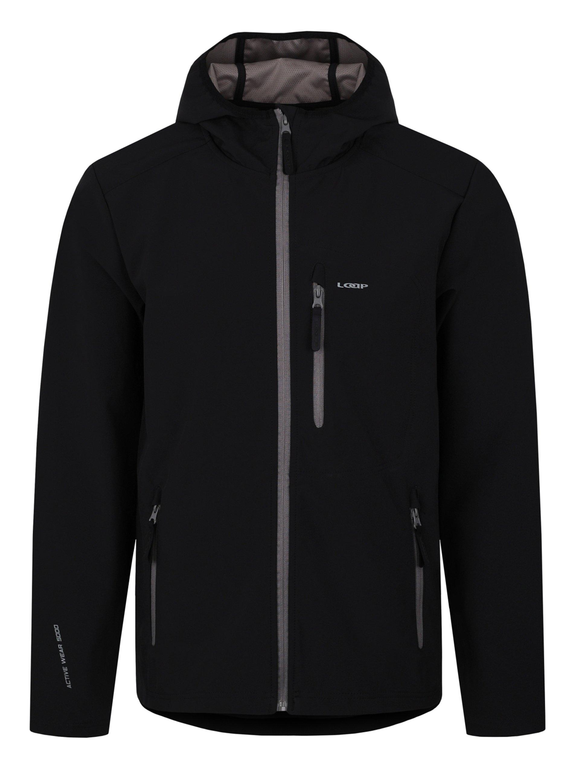 Černá pánská softshelová bunda LOAP Lenc