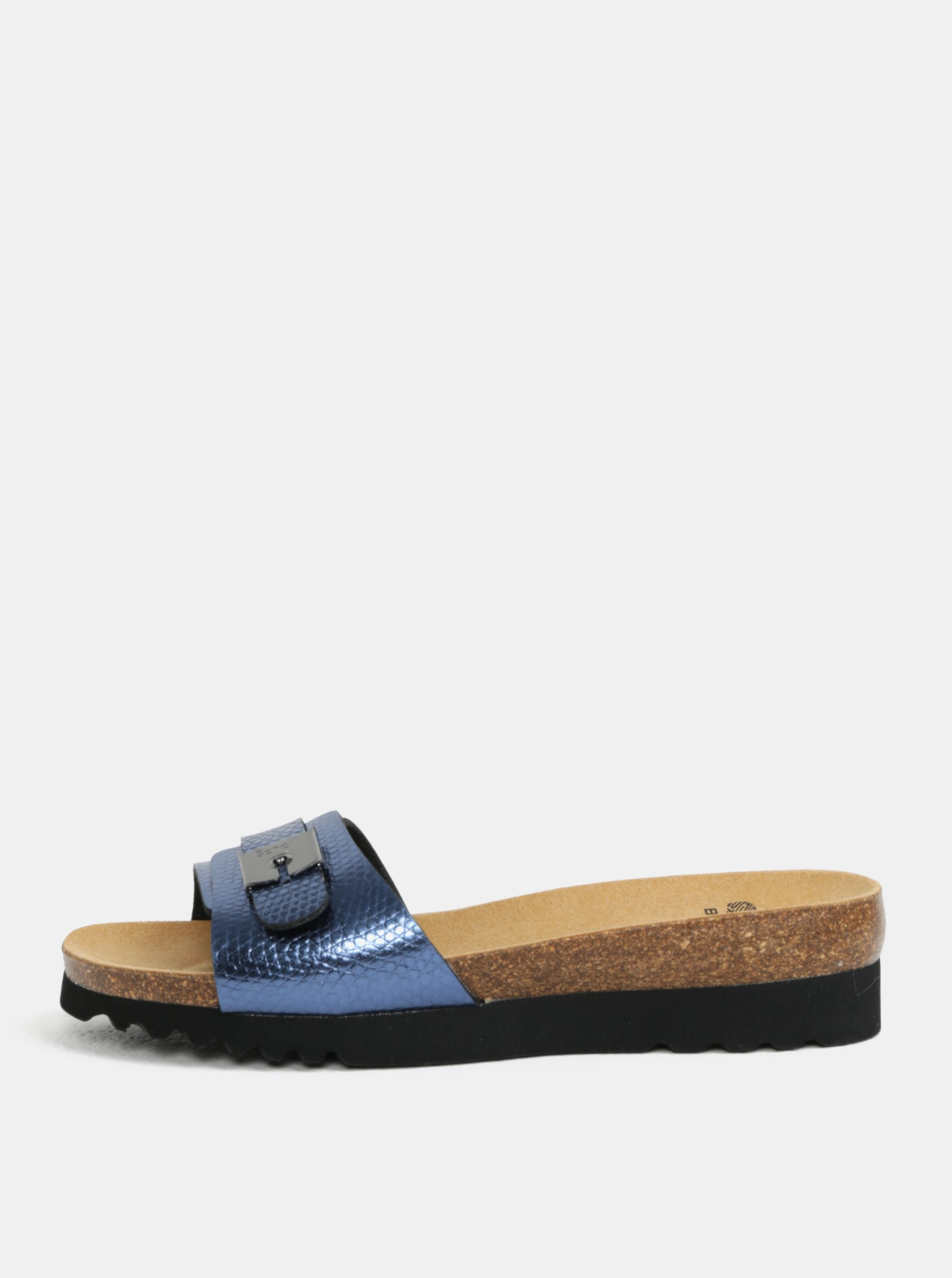 8a31708a9644 Modré dámske zdravotné papuče Scholl Ginni