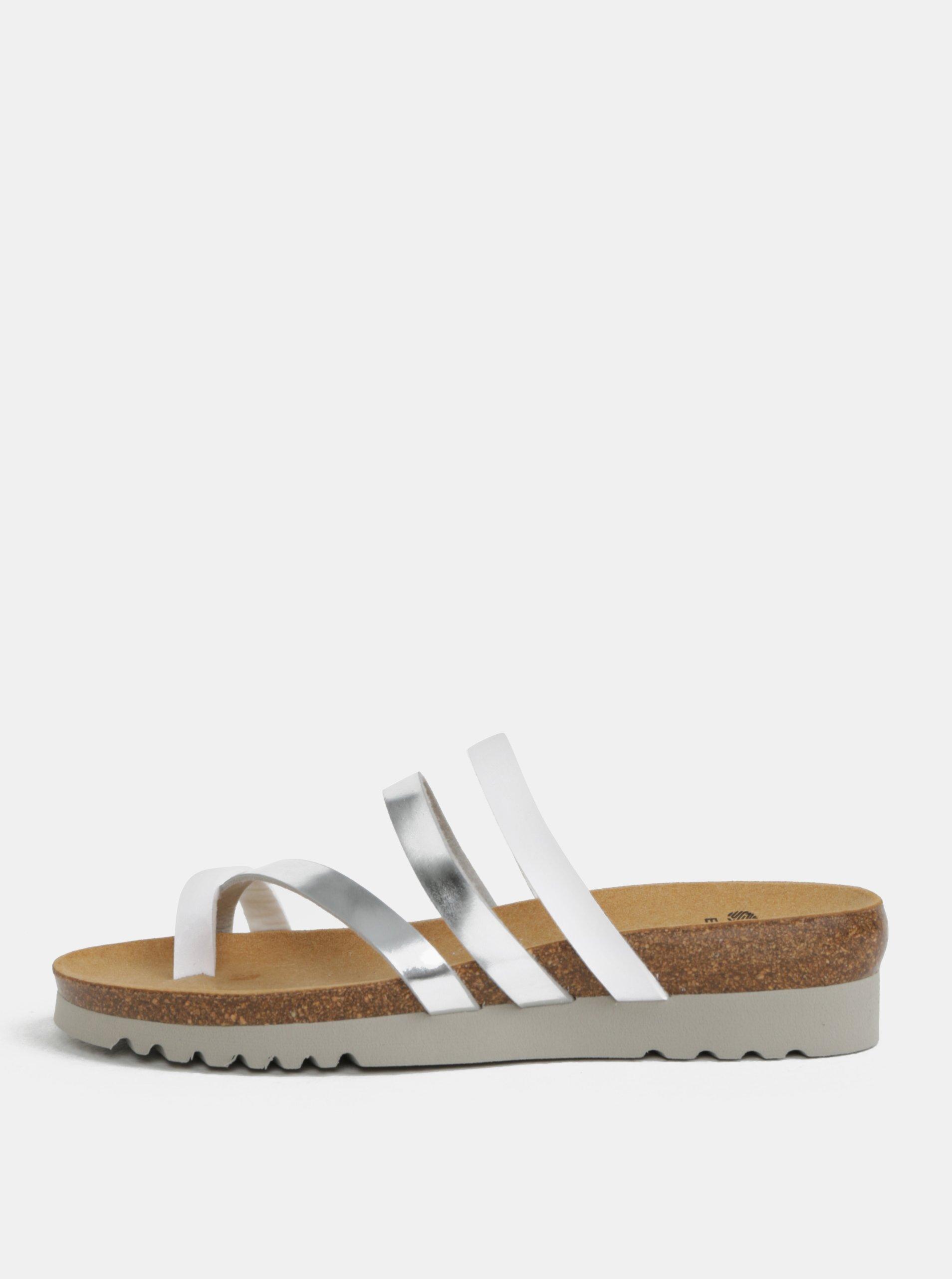 Dámské zdravotní pantofle ve stříbrné barvě Scholl Alma 9ff0eff765