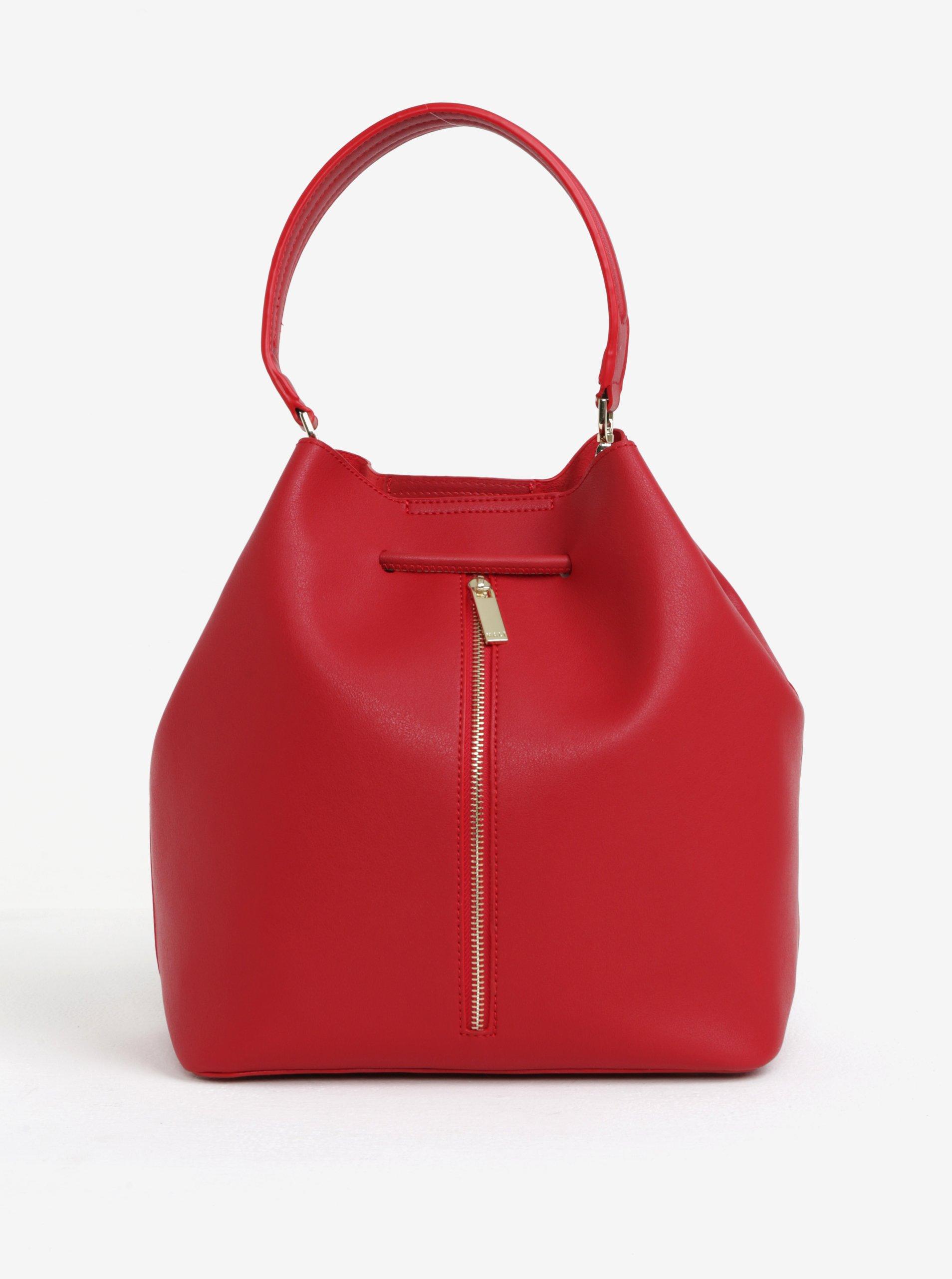 červená vaková kabelka/batoh s pouzdrem 2v1 Nali