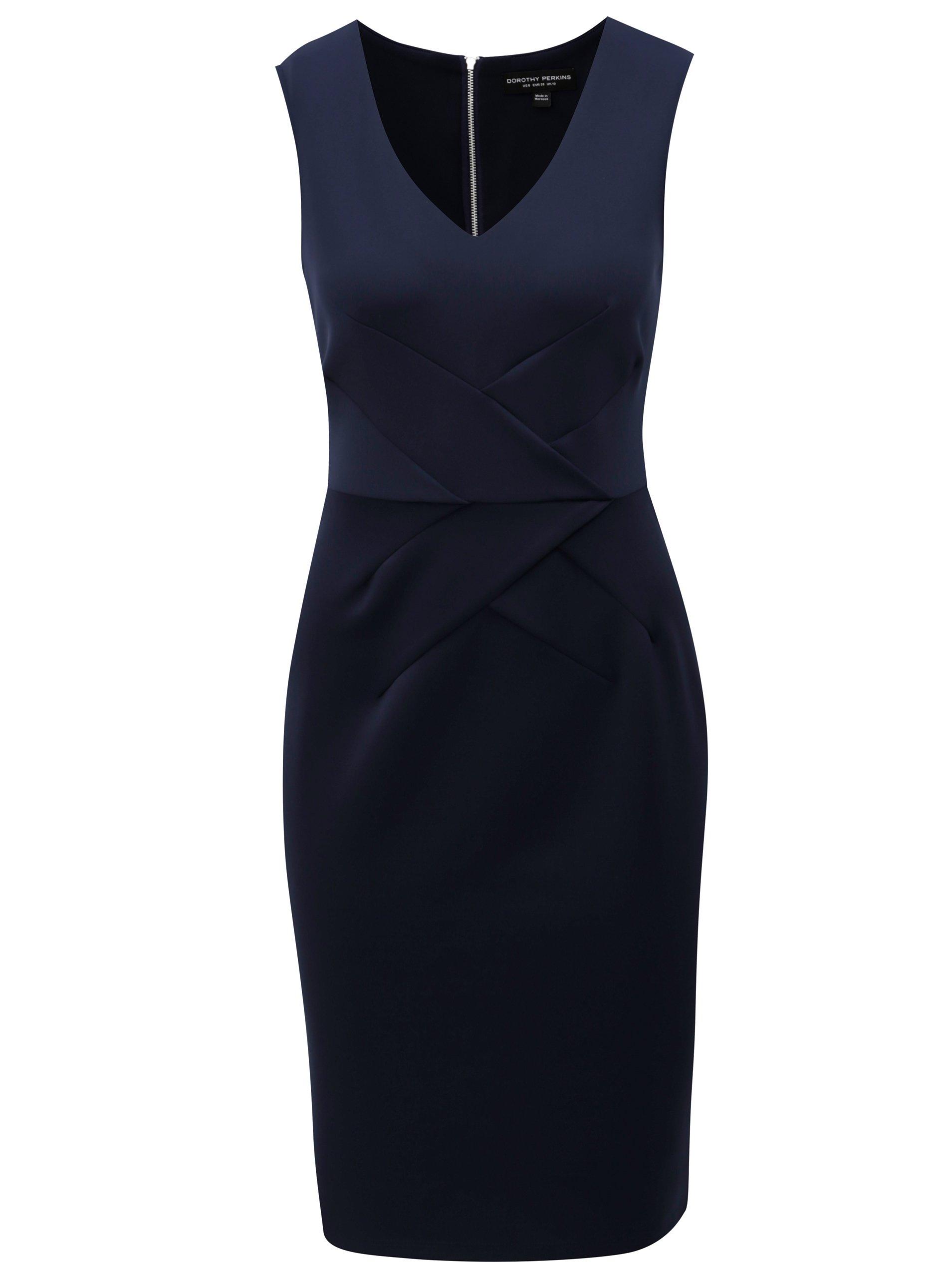 f5cc35a9b7c8 Tmavomodré puzdrové šaty Dorothy Perkins