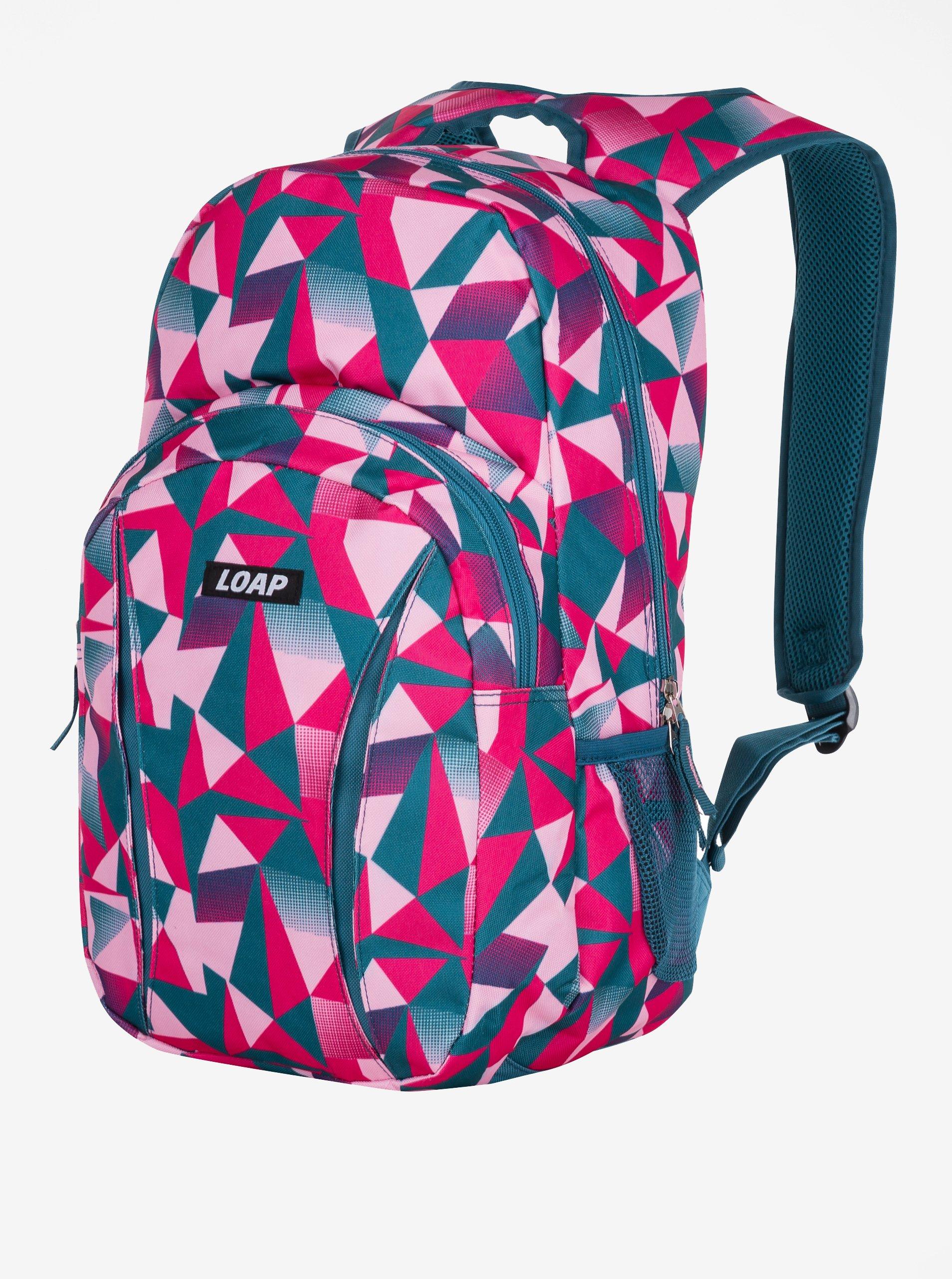 6684cca862b4 Petrolejovo-ružový vzorovaný batoh LOAP Asso 20 l