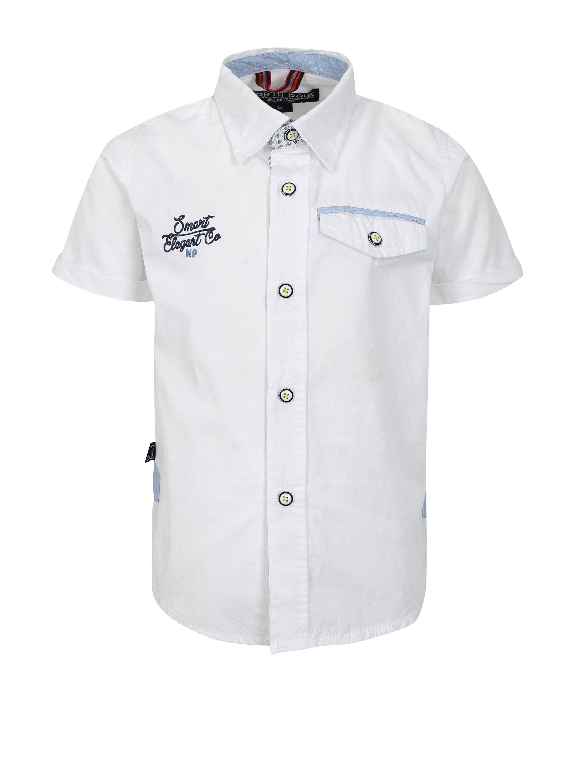 69c10160fa1a Biela chlapčenská košeľa s vreckom North Pole Kids