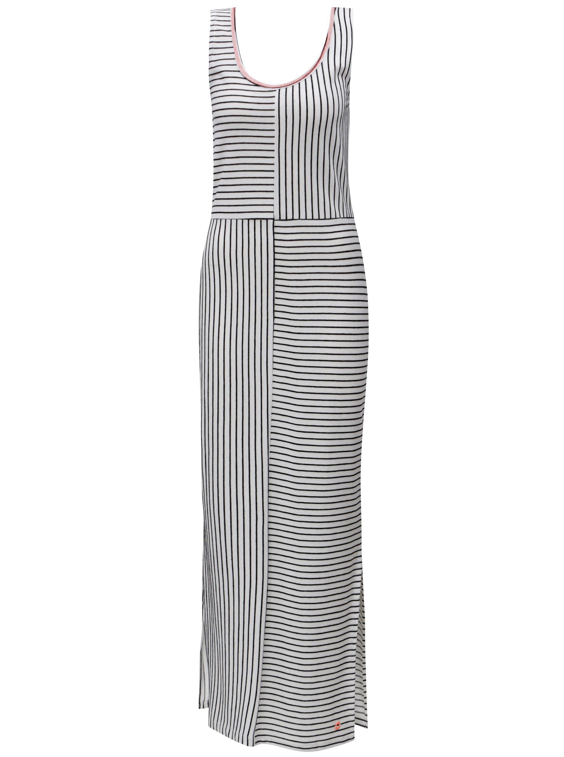 Černo-bílé pruhované maxišaty SKFK
