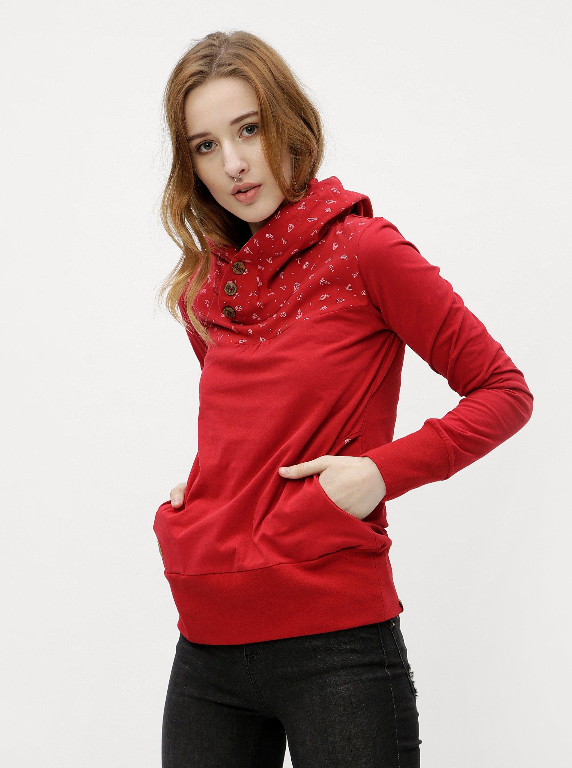 Fotografie Červené dámské tričko s dlouhým rukávem Ragwear Lucie