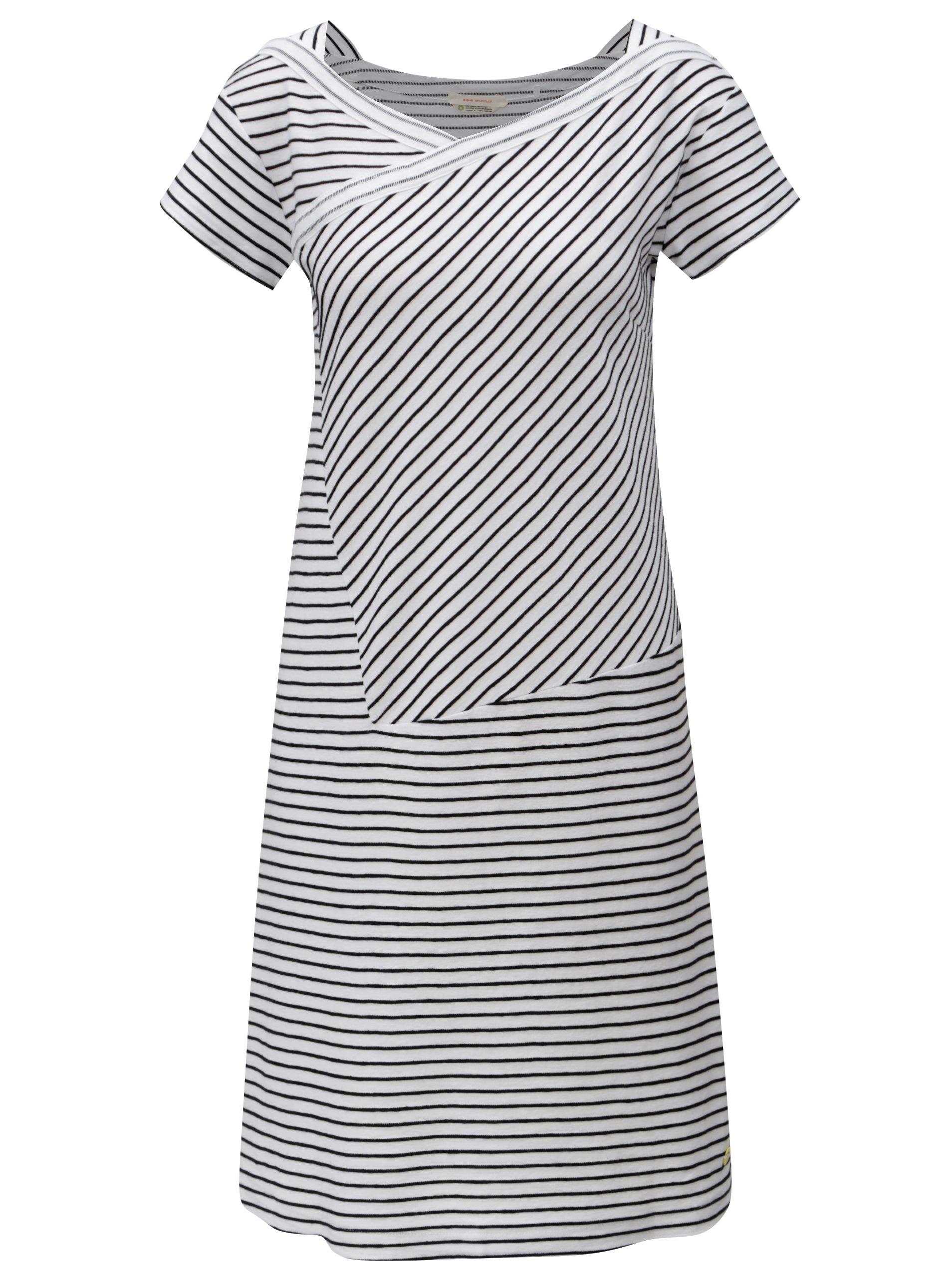 Černo-bílé pruhované šaty SKFK