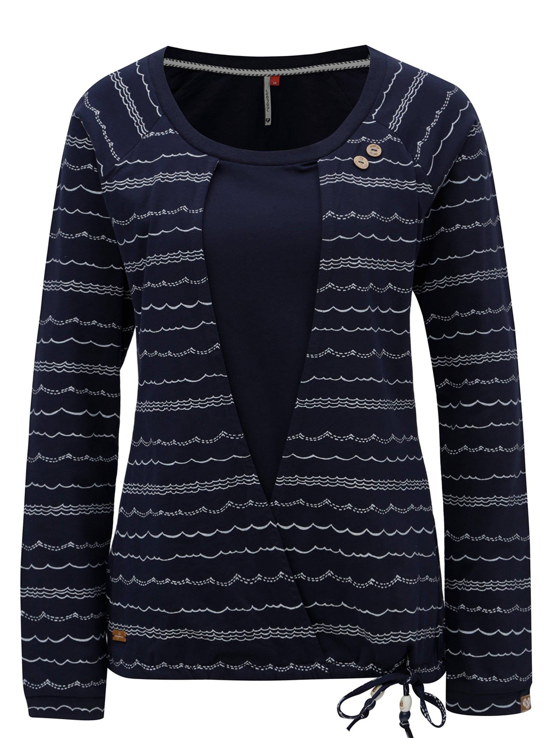 Fotografie Tmavě modré dámské tričko s dlouhým rukávem Ragwear Mirka