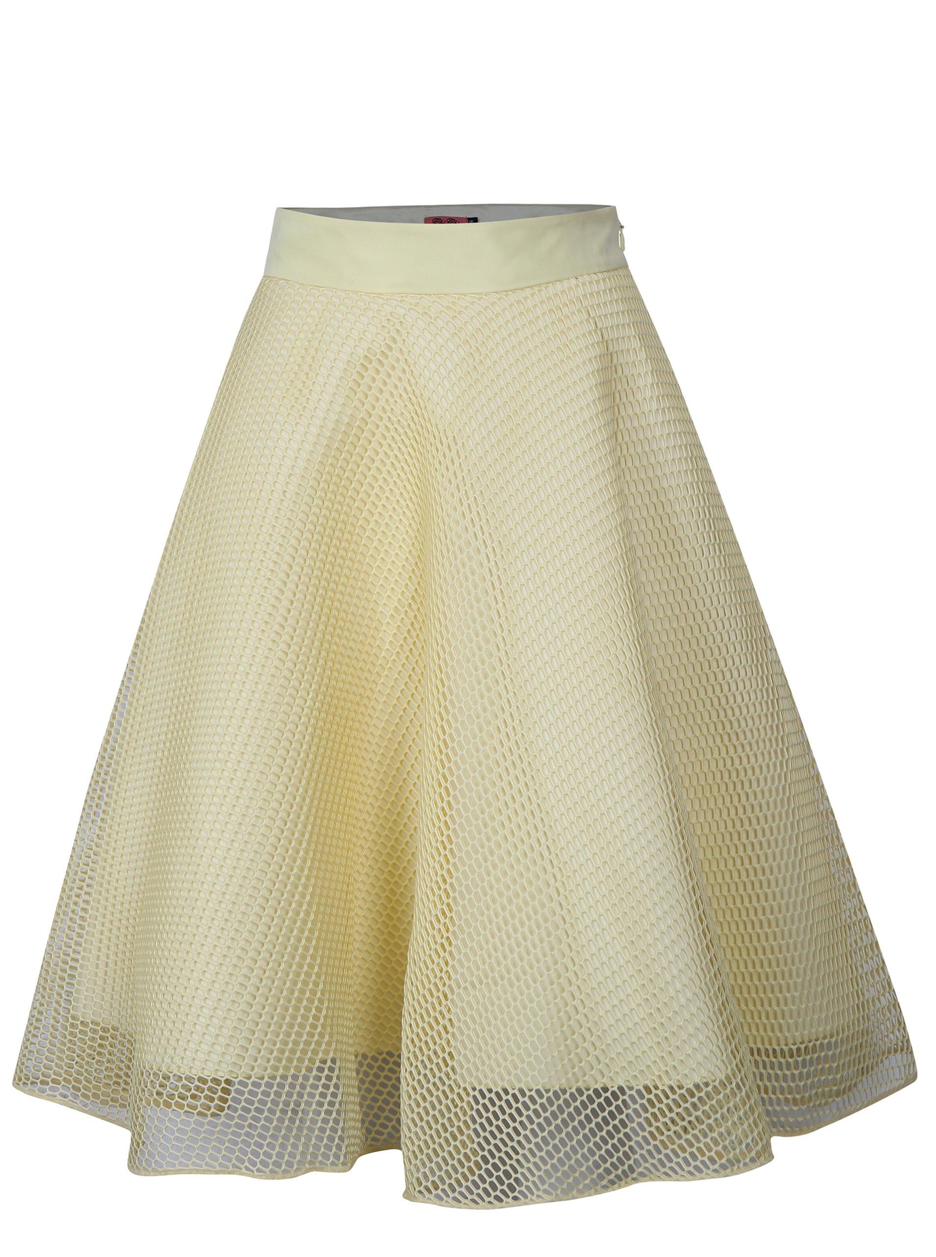 žlutá sukně Chi Chi London Grayce