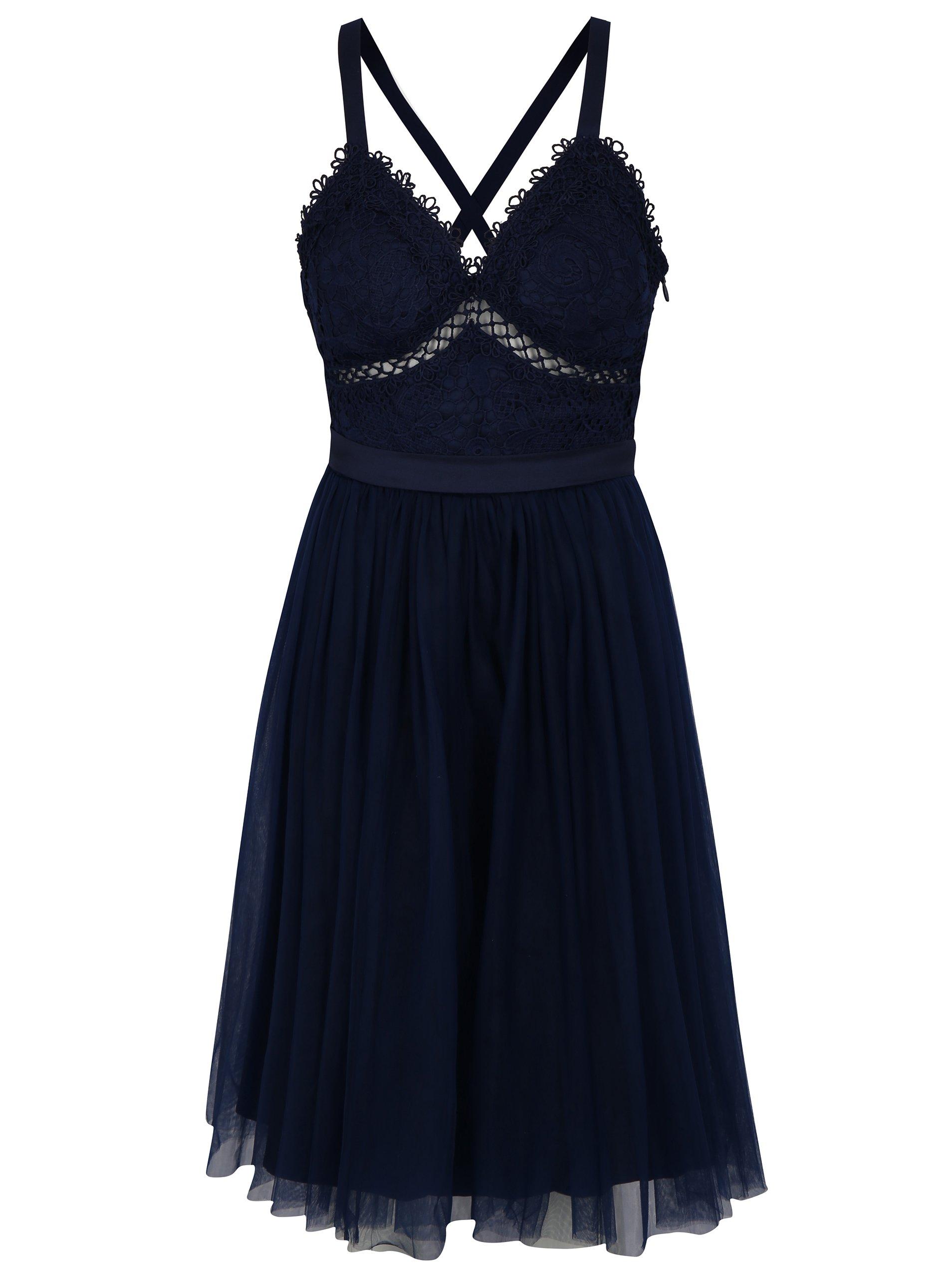 9d2700f575e Tmavě modré šaty Chi Chi London Sasha