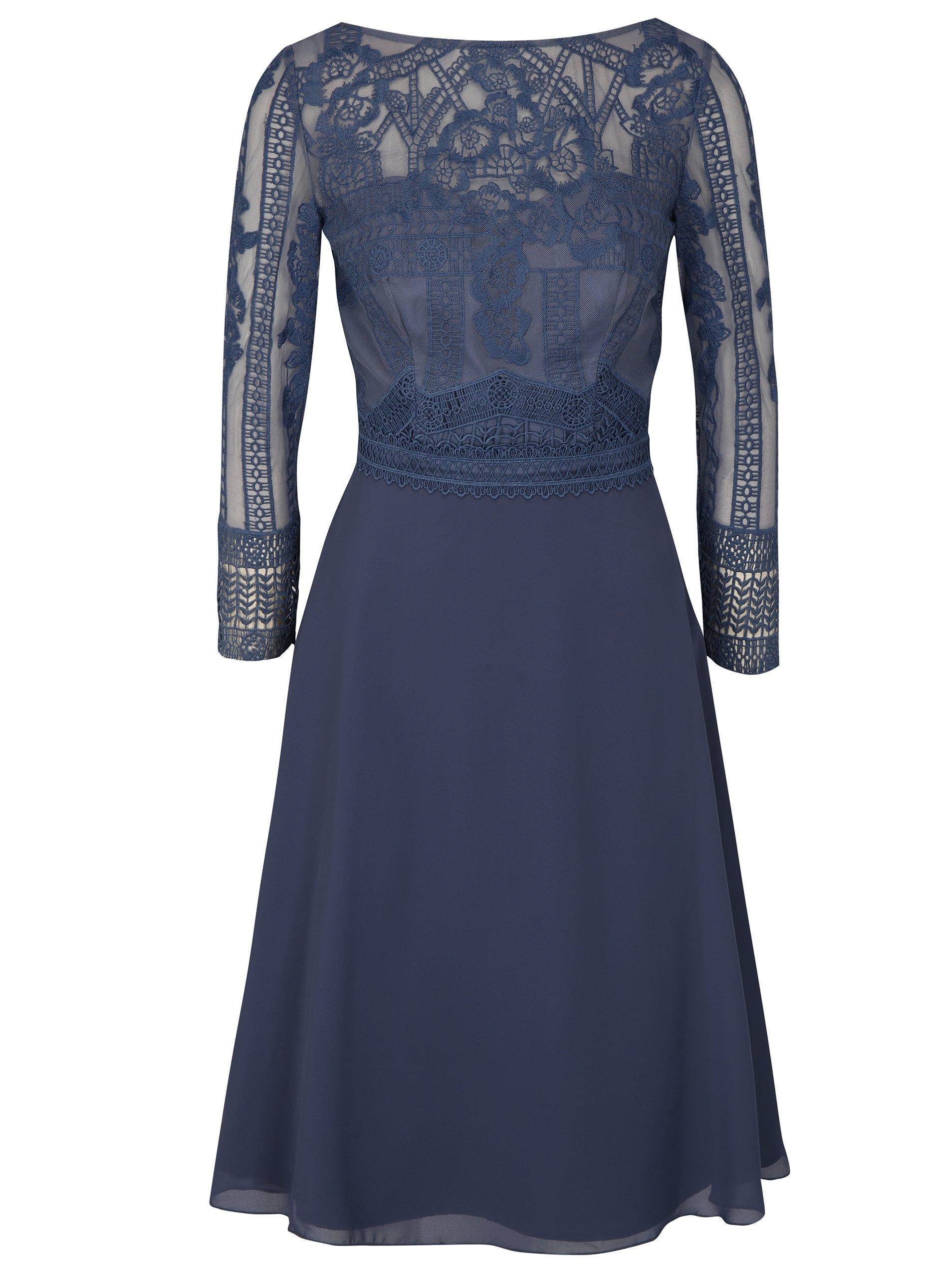 Modré šaty Chi Chi London Reni