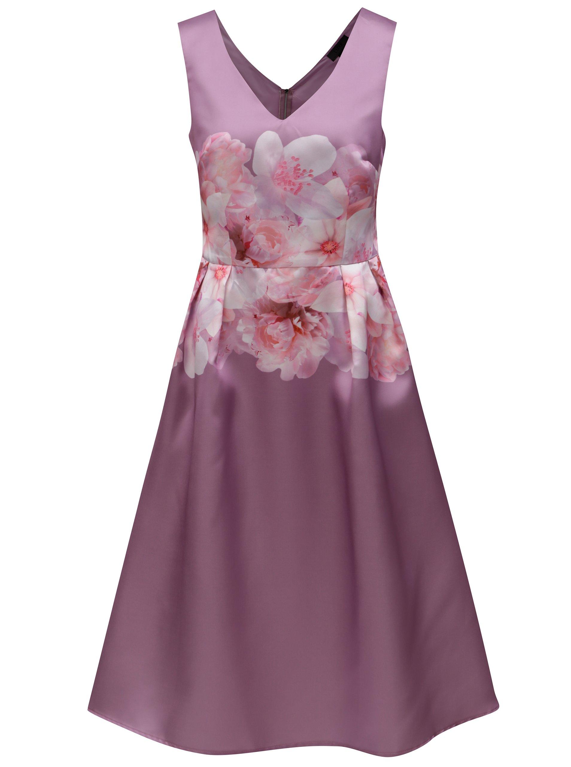 Fialové květované šaty Dorothy Perkins