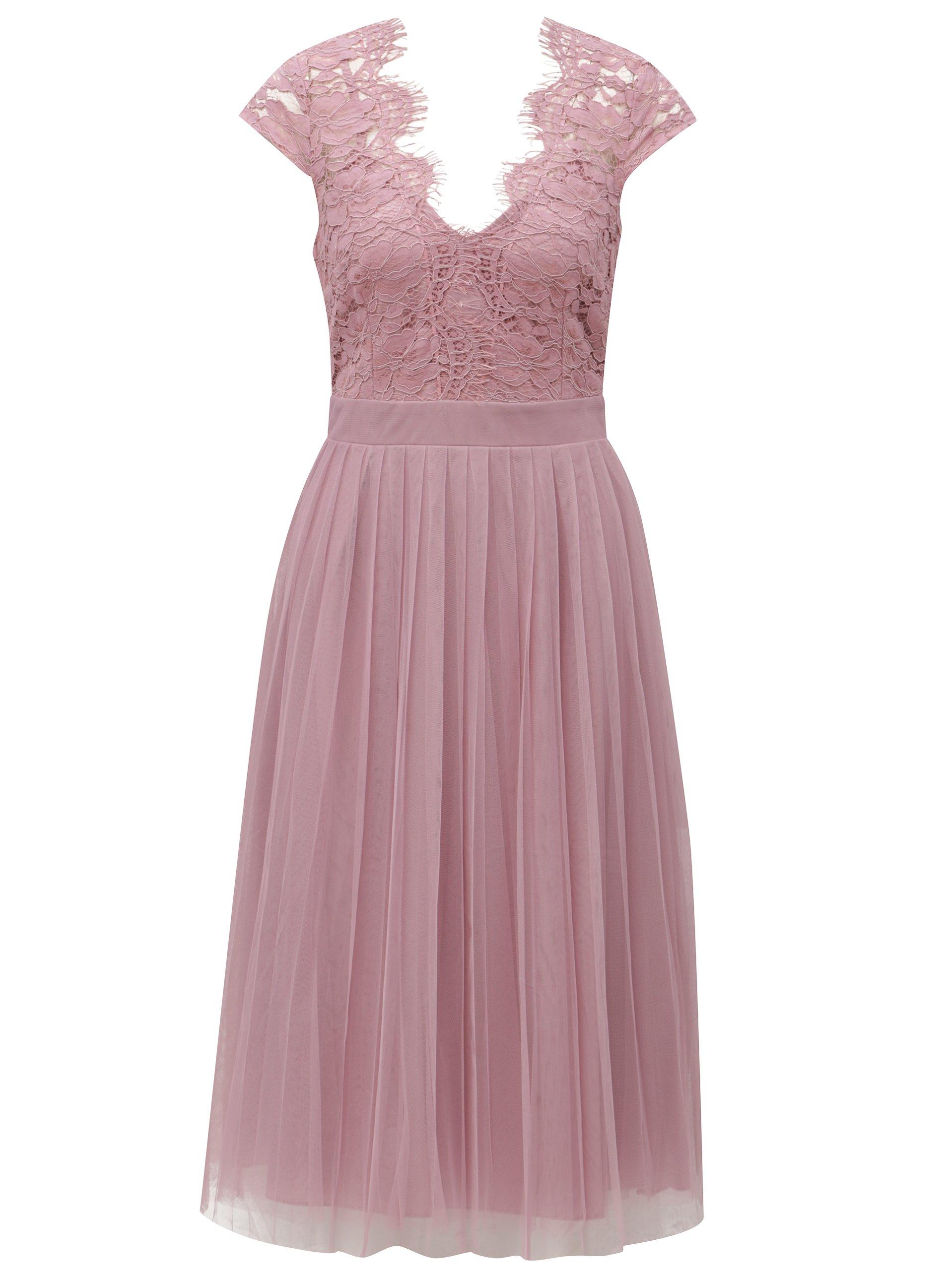 Staroružové šaty s tylovou sukňou Little Mistress