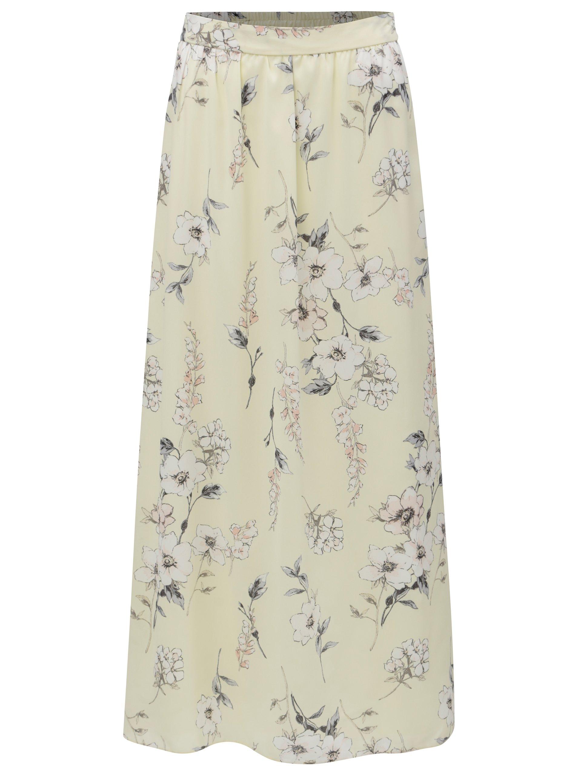 7d0a5c33d845 Žlutá květovaná maxi sukně Dorothy Perkins Petite