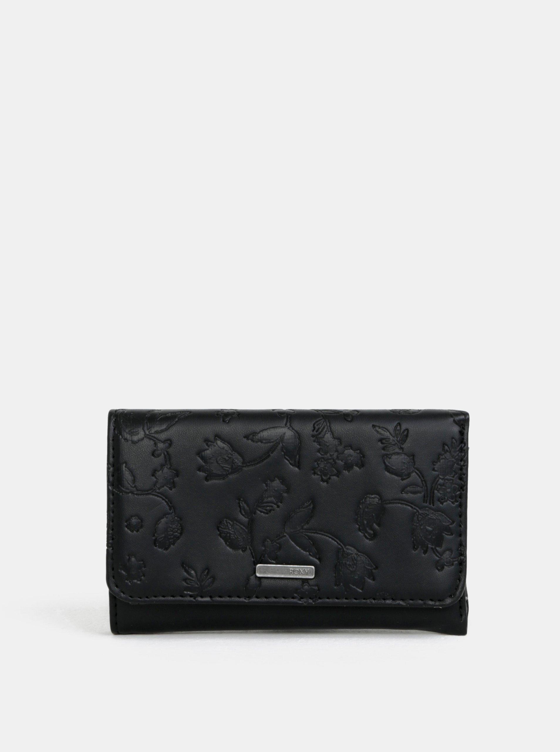 Černá peněženka s jemným vzorem Roxy Juno