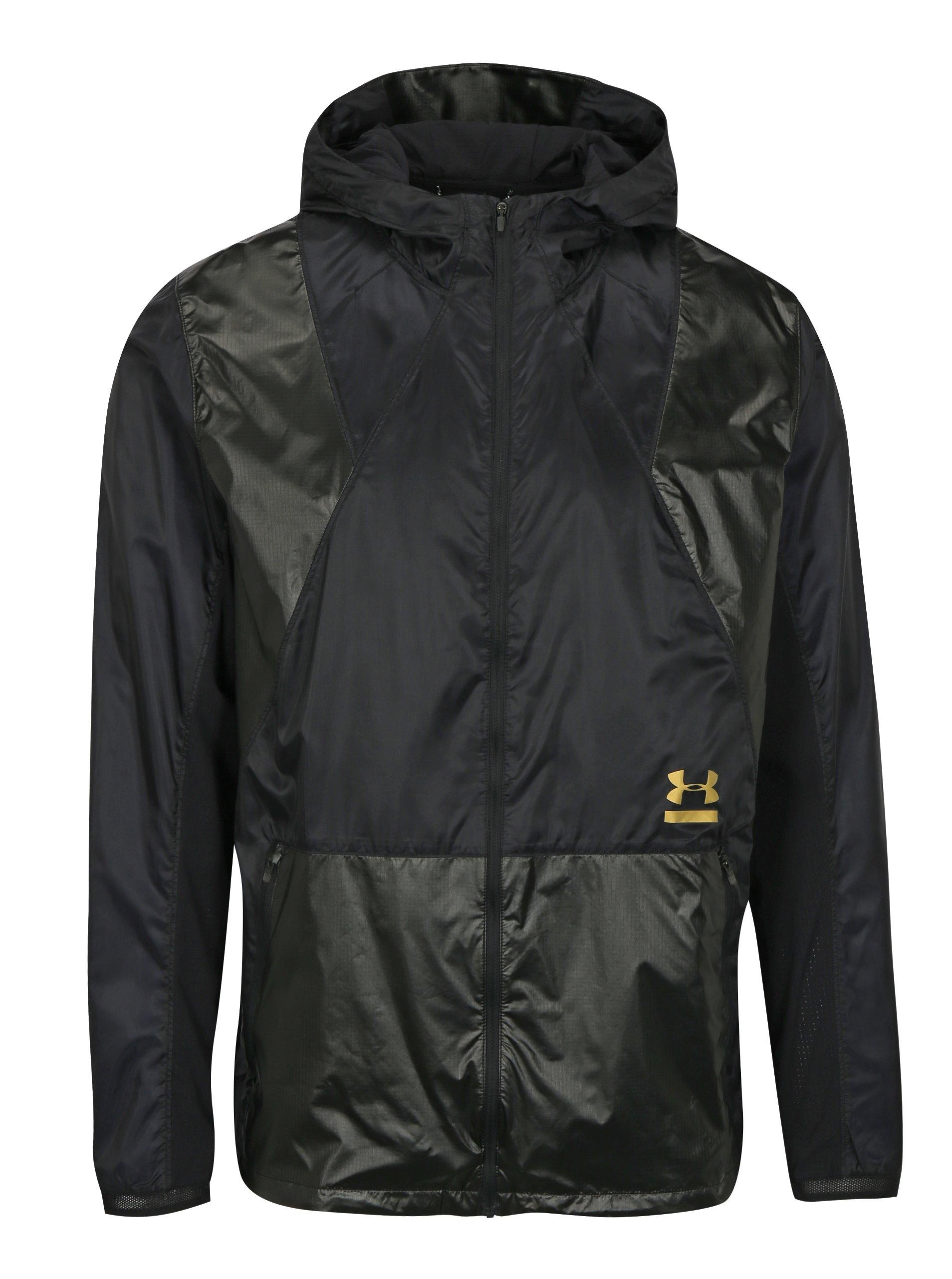 Fotografie Černá pánská sportovní funkční bunda Under Armour Perpetual