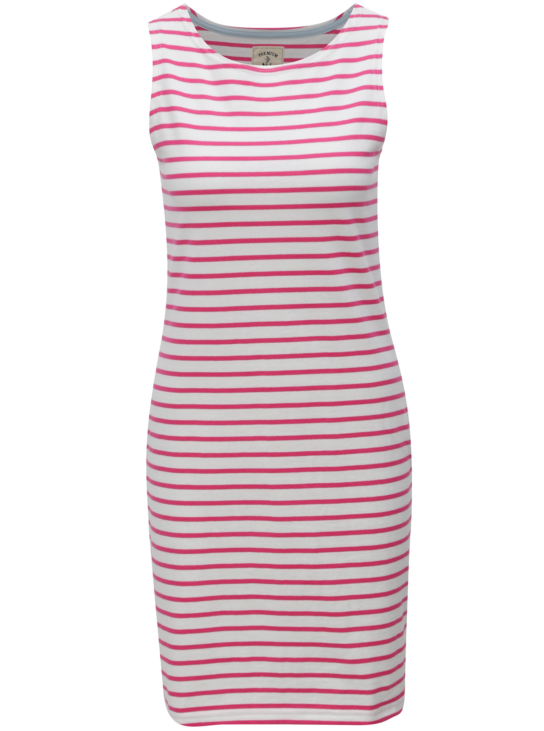 Růžovo-bílé dámské pruhované šaty Tom Joule Jersey e13c0419c6