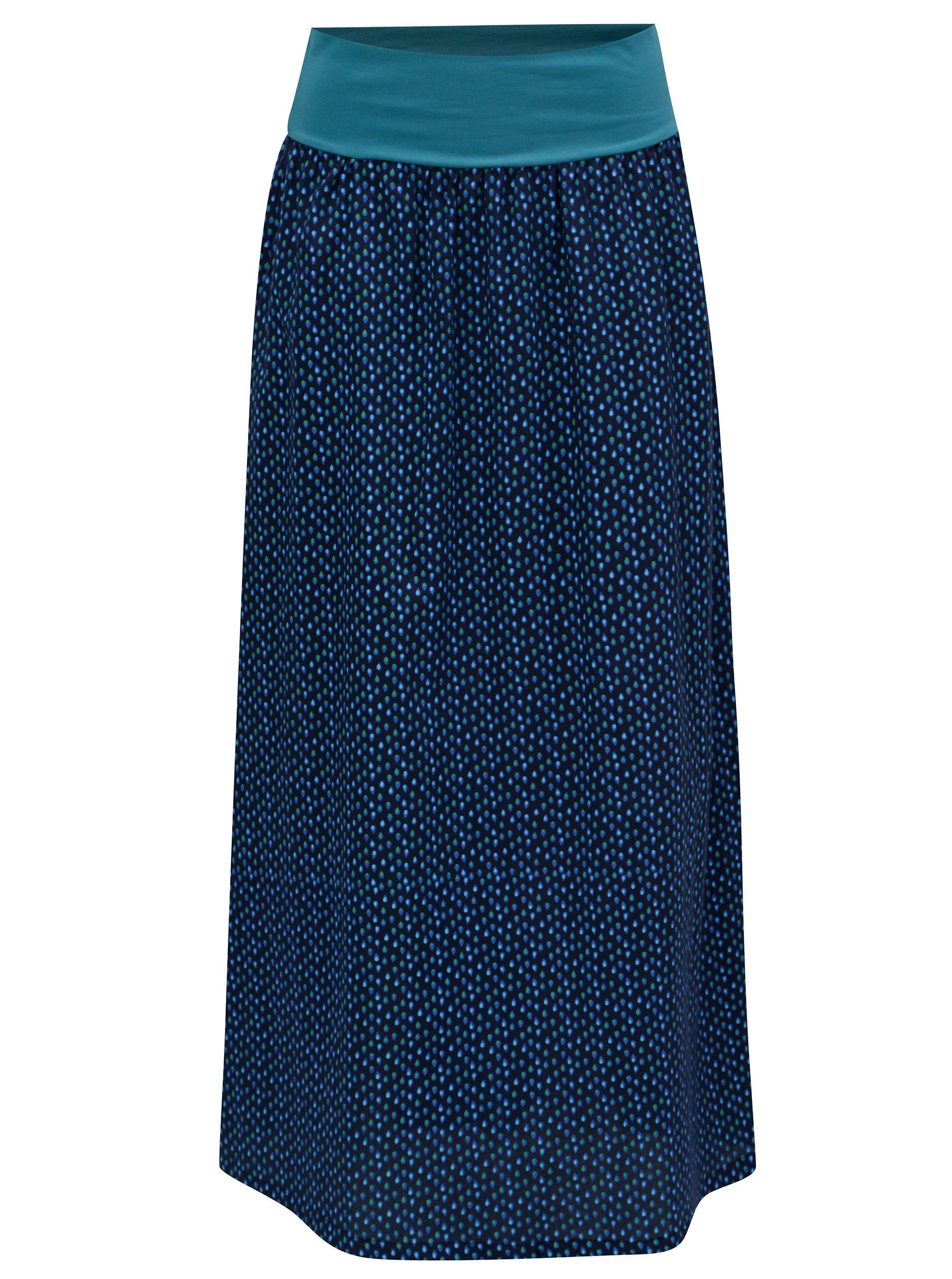 Tmavě modrá vzorovaná maxi   balónová sukně Tranquillo Chirita e9ea38e27a