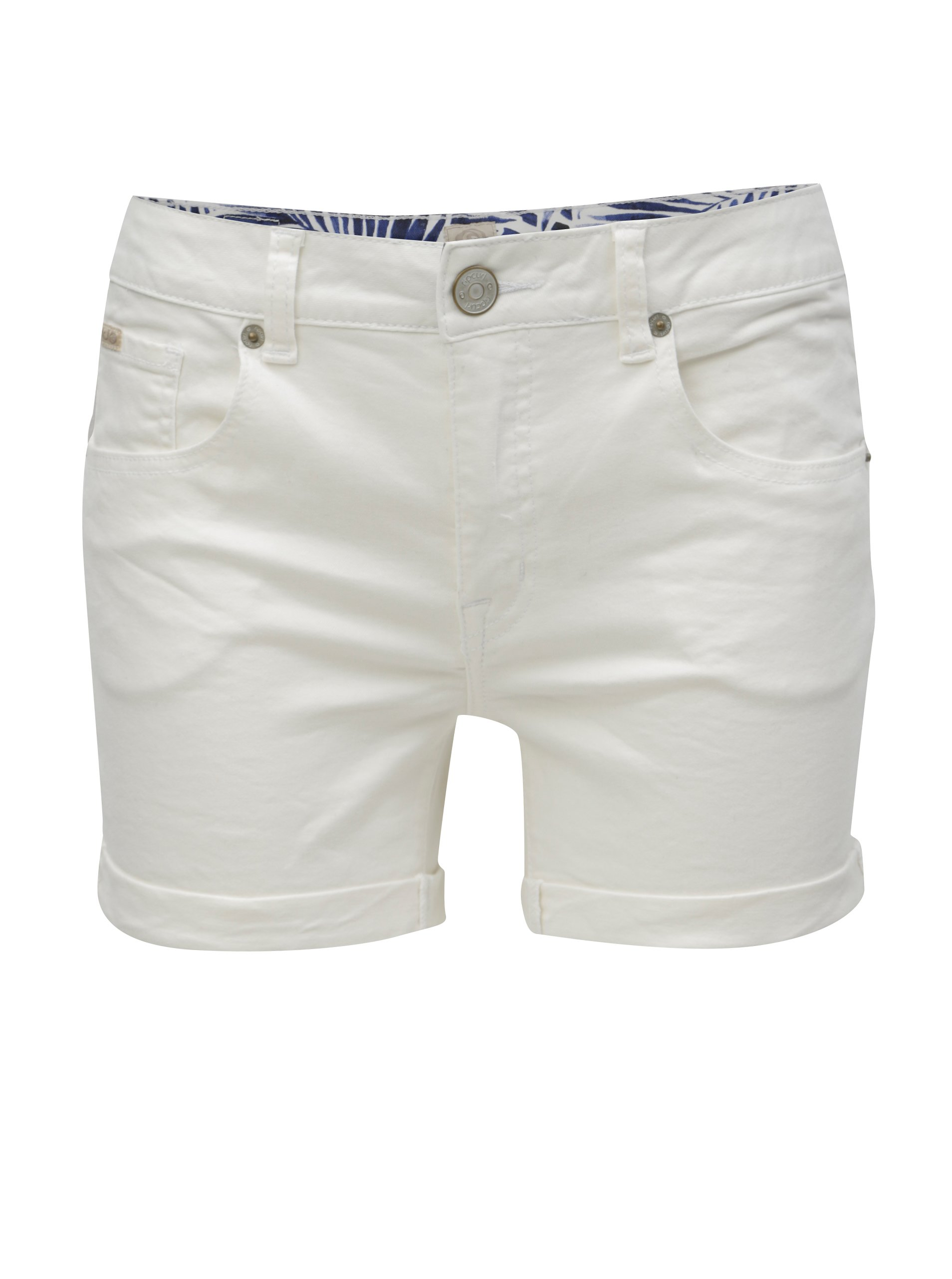 Bílé dámské džínové kraťasy Rip Curl fd61450632