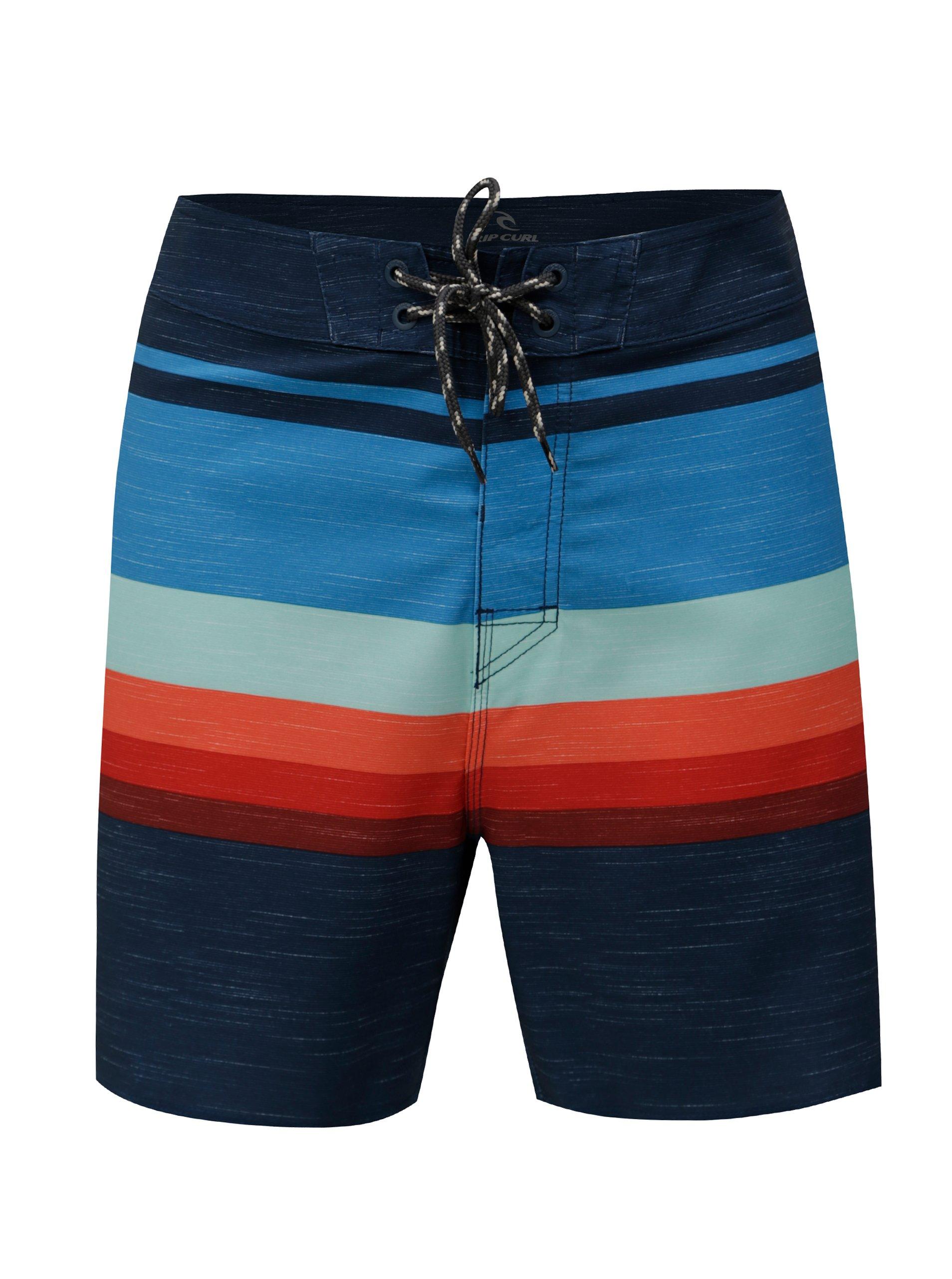 Tmavě modré pánské pruhované plavky Rip Curl 61abdfe52f