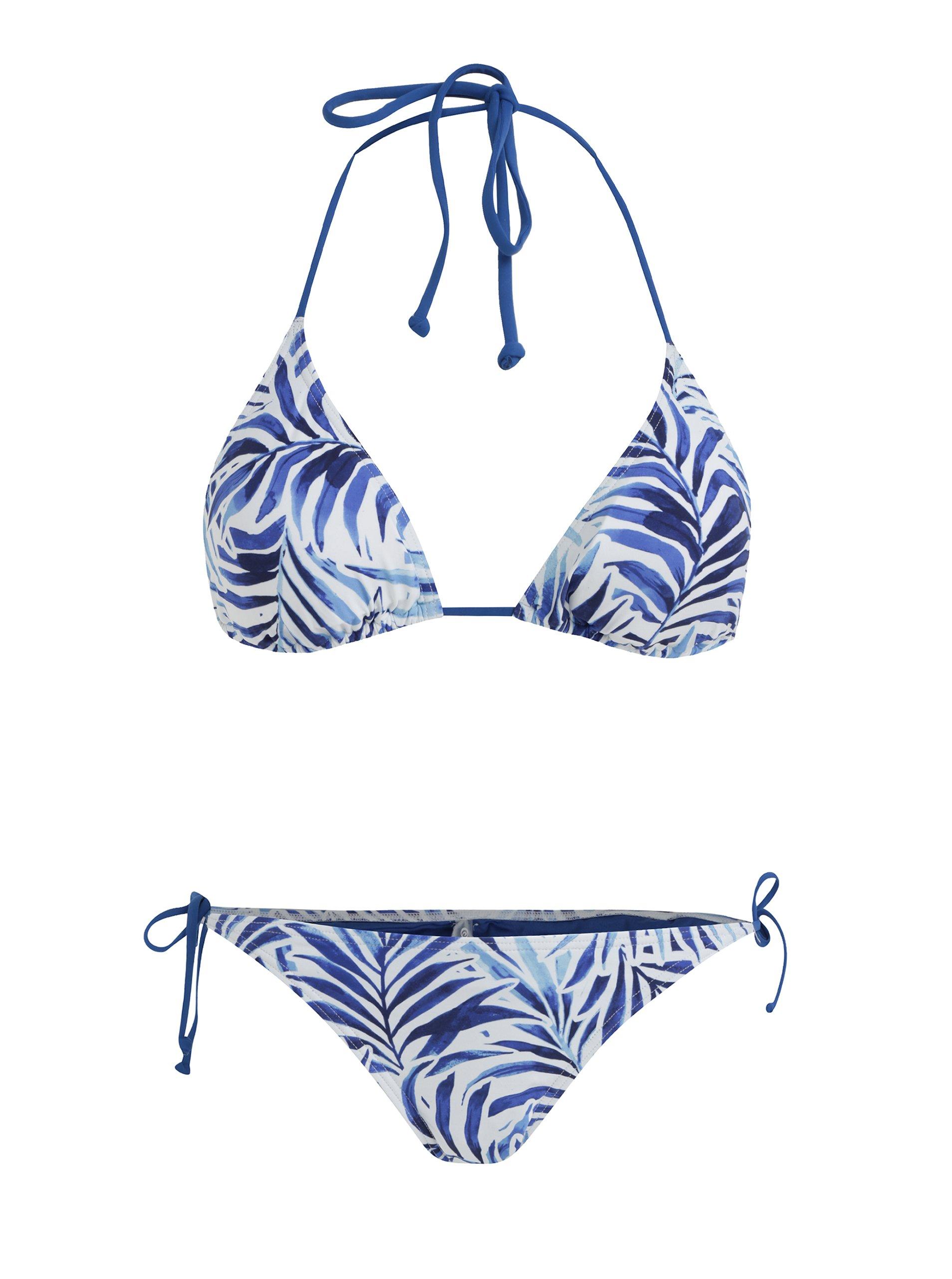 2e41f54b91c Bílo-modré dámské vzorované dvoudílné plavky Rip Curl