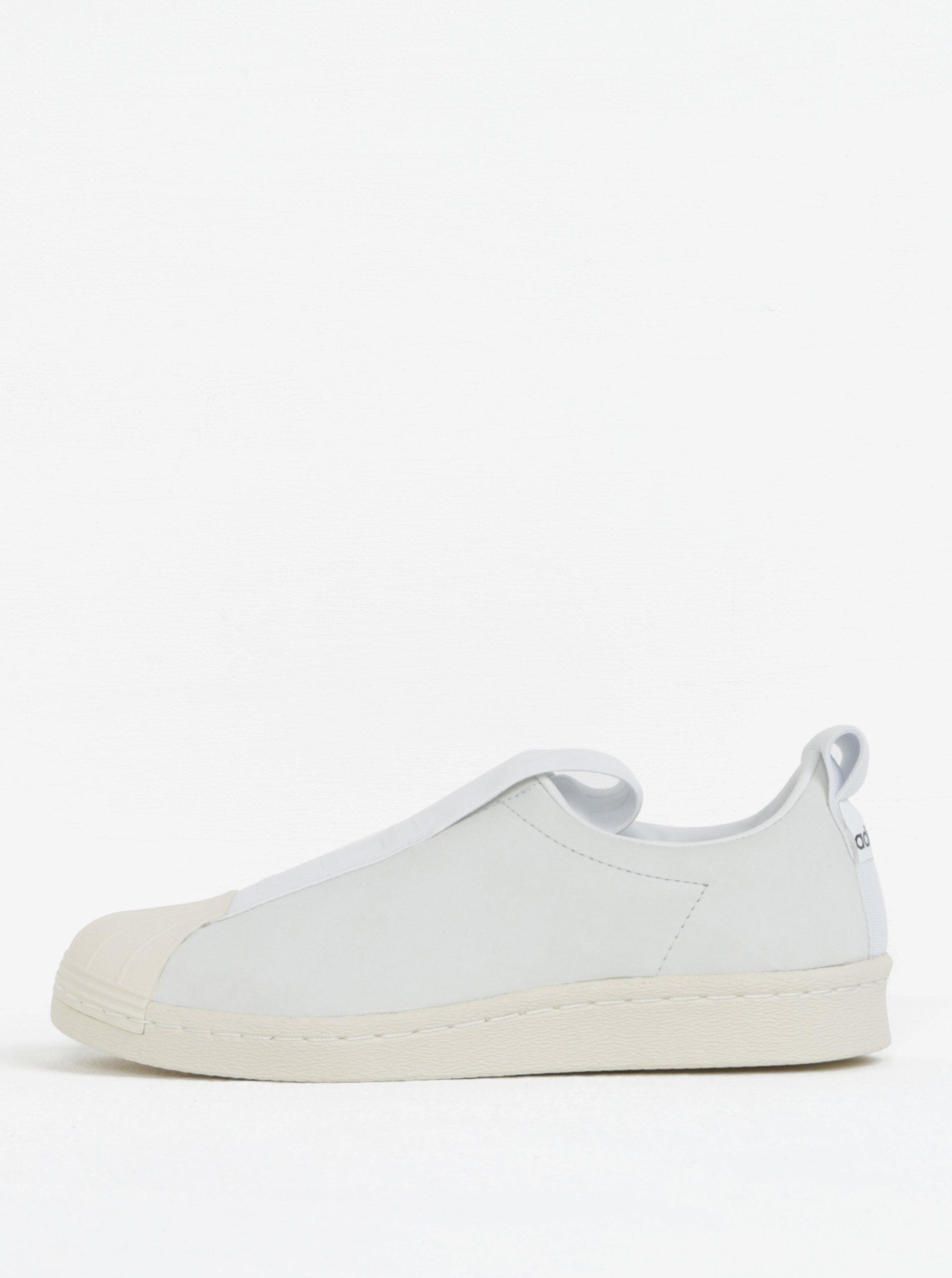 4a801625433 Bílé dámské kožené slip on adidas Originals Tubular Superstar