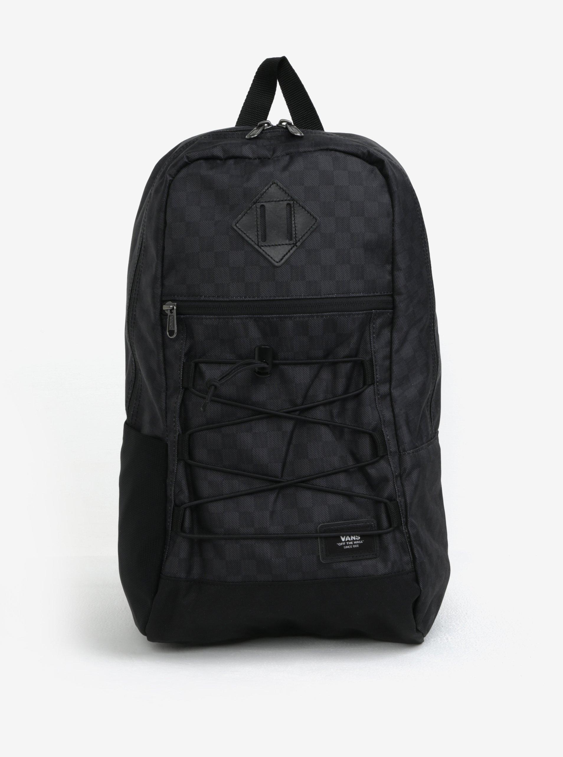 Tmavě šedý pánský batoh s jemným vzorem VANS Snag 18 l