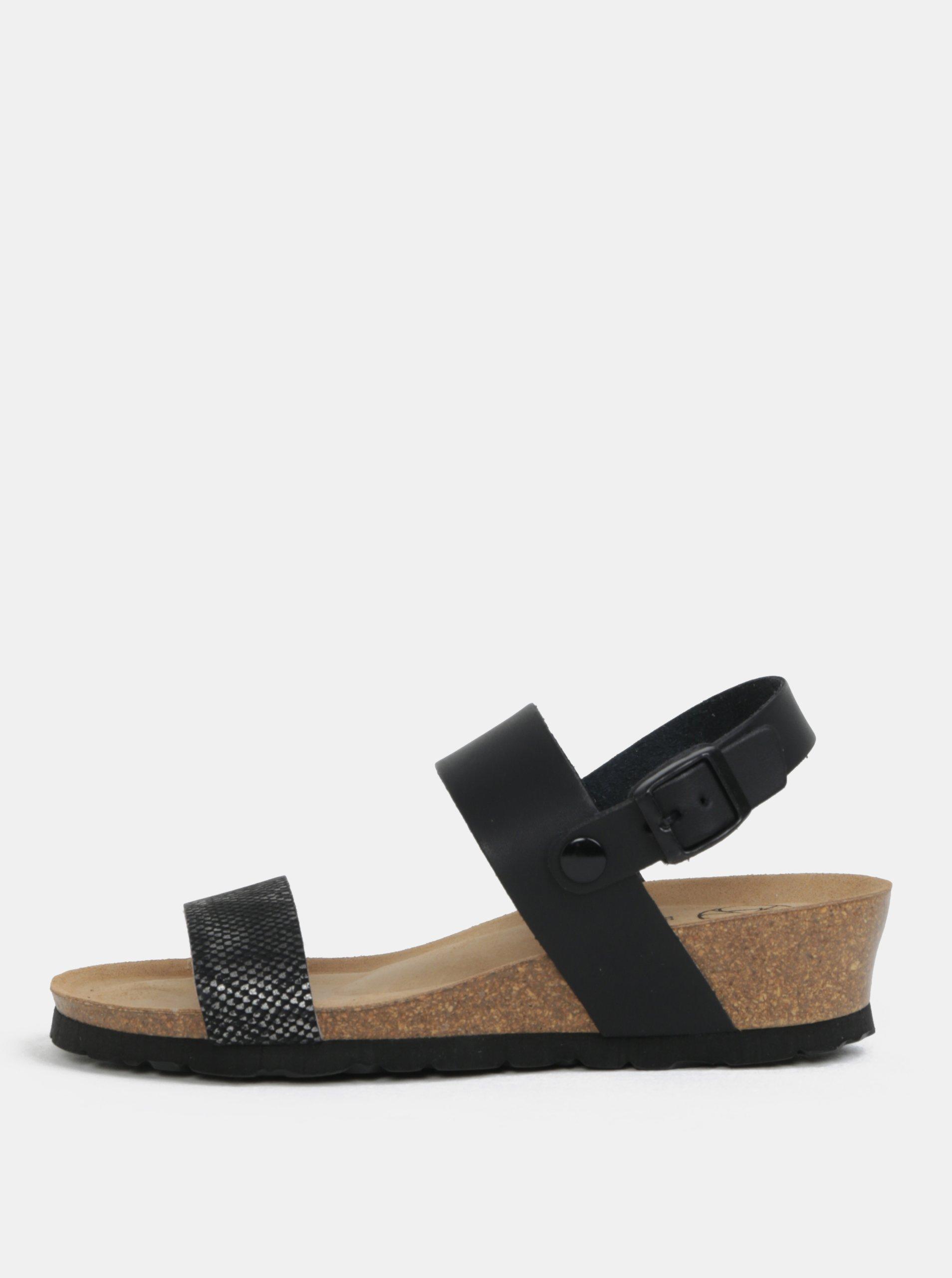 c3e7d348e7e3 Čierne sandále na kline OJJU