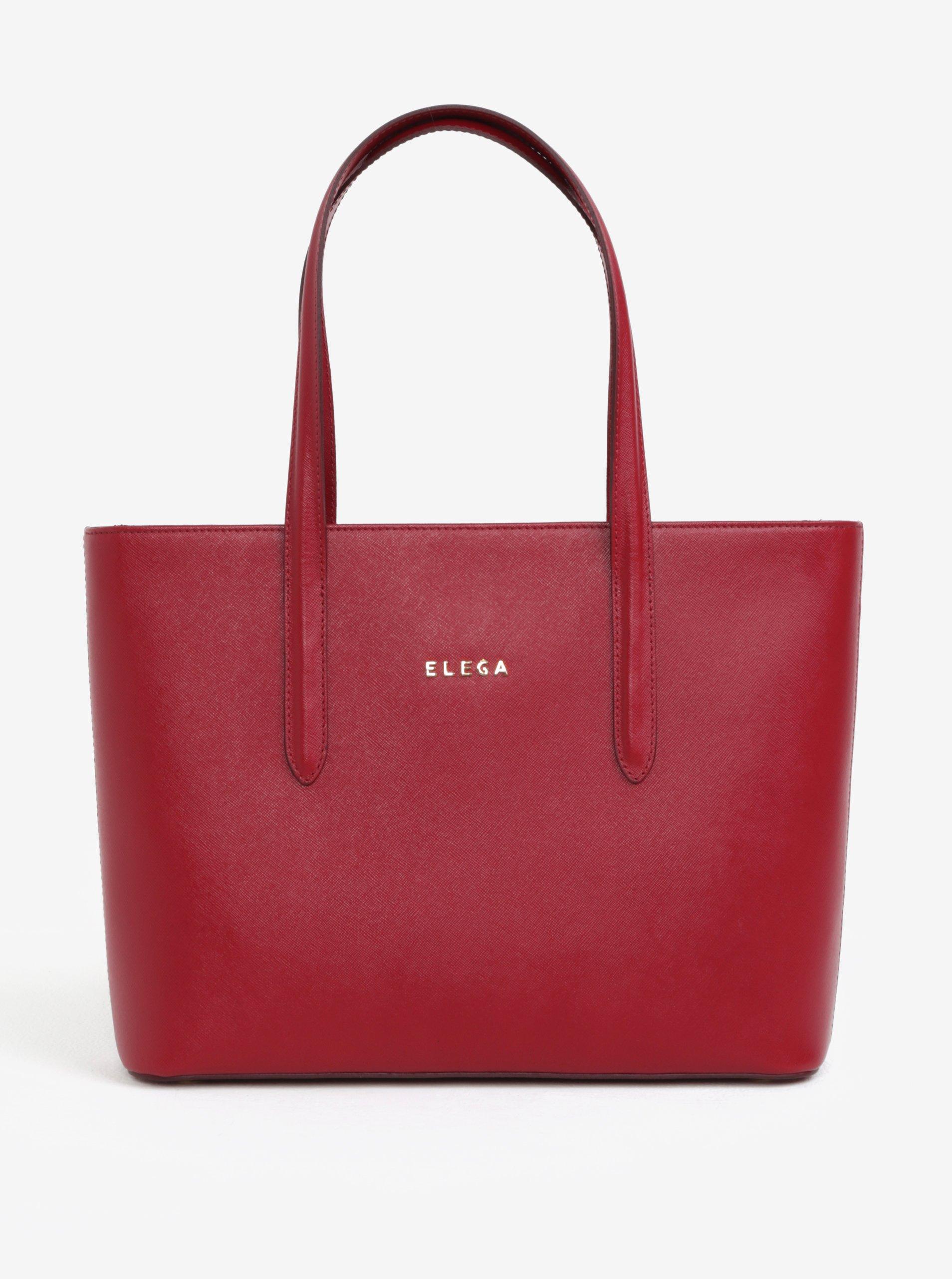 b47fdadde7 Červená kožená kabelka cez rameno ELEGA Simone