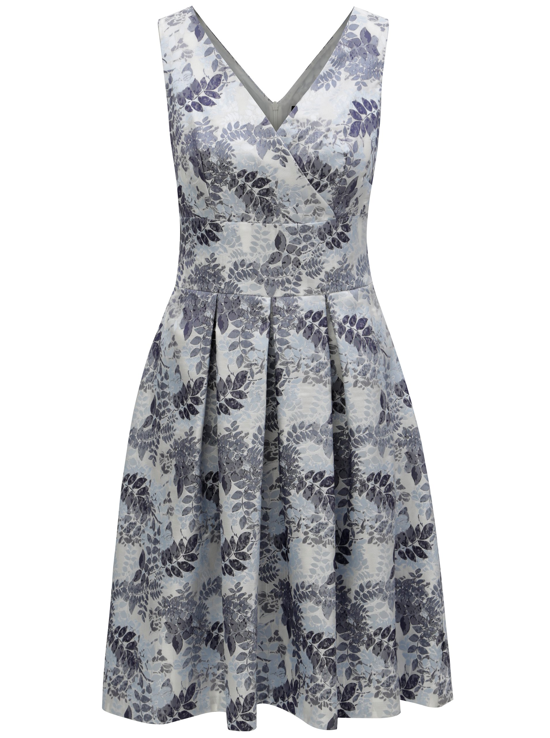 Svetlomodré kvetované šaty s prekladaným výstrihom Dorothy Perkins