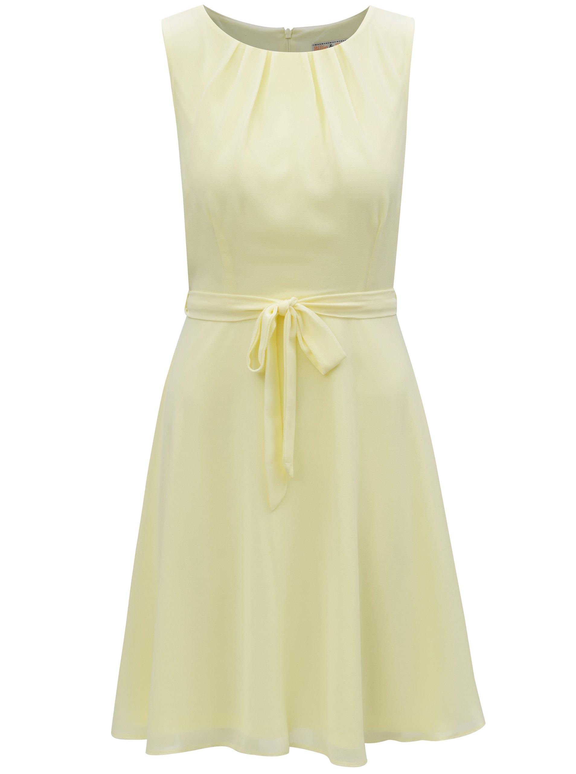 Světle žluté šaty Billie & Blossom Petite
