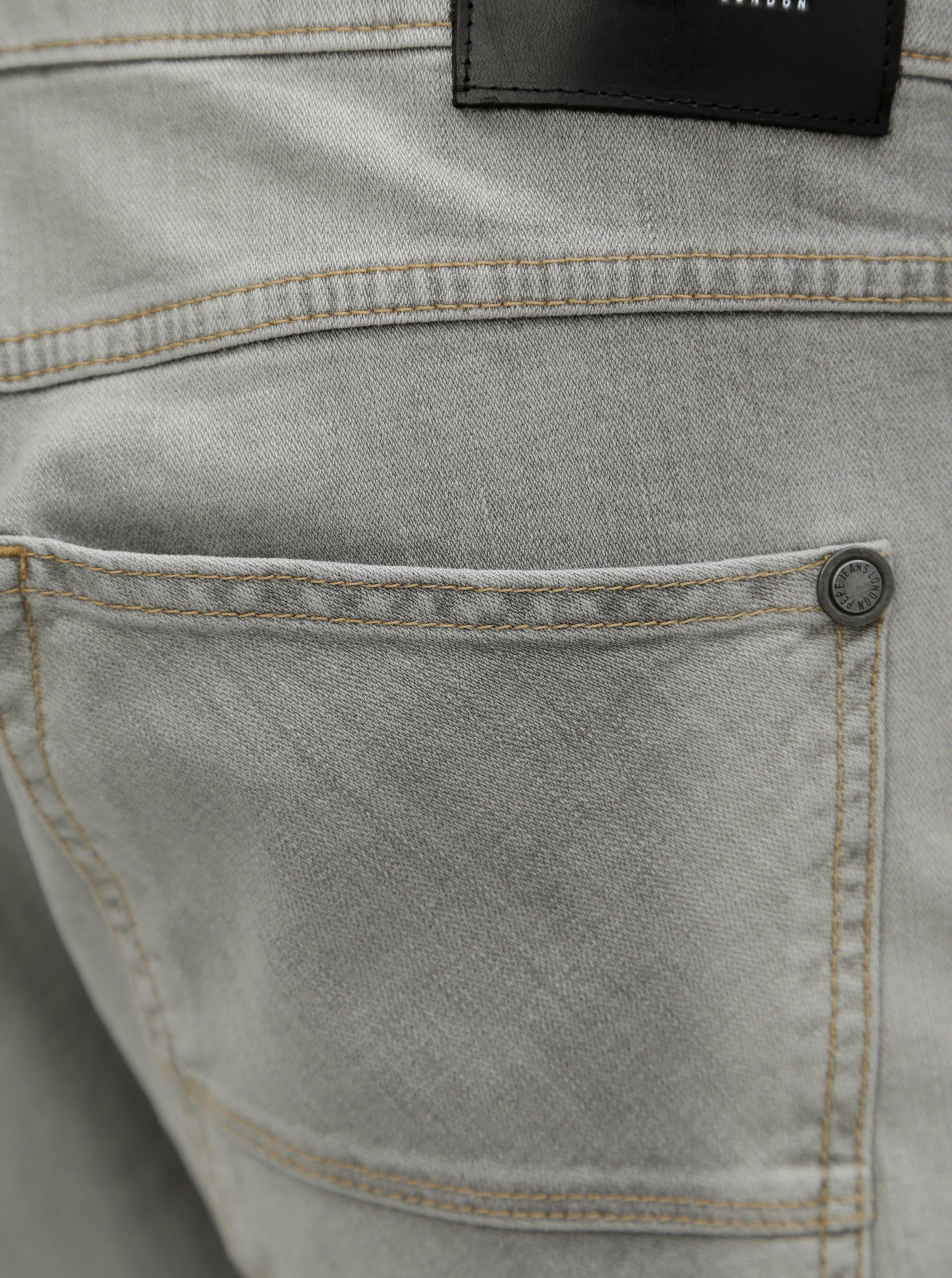 Světle šedé pánské regular džíny Pepe Jeans Zinc 187411f609