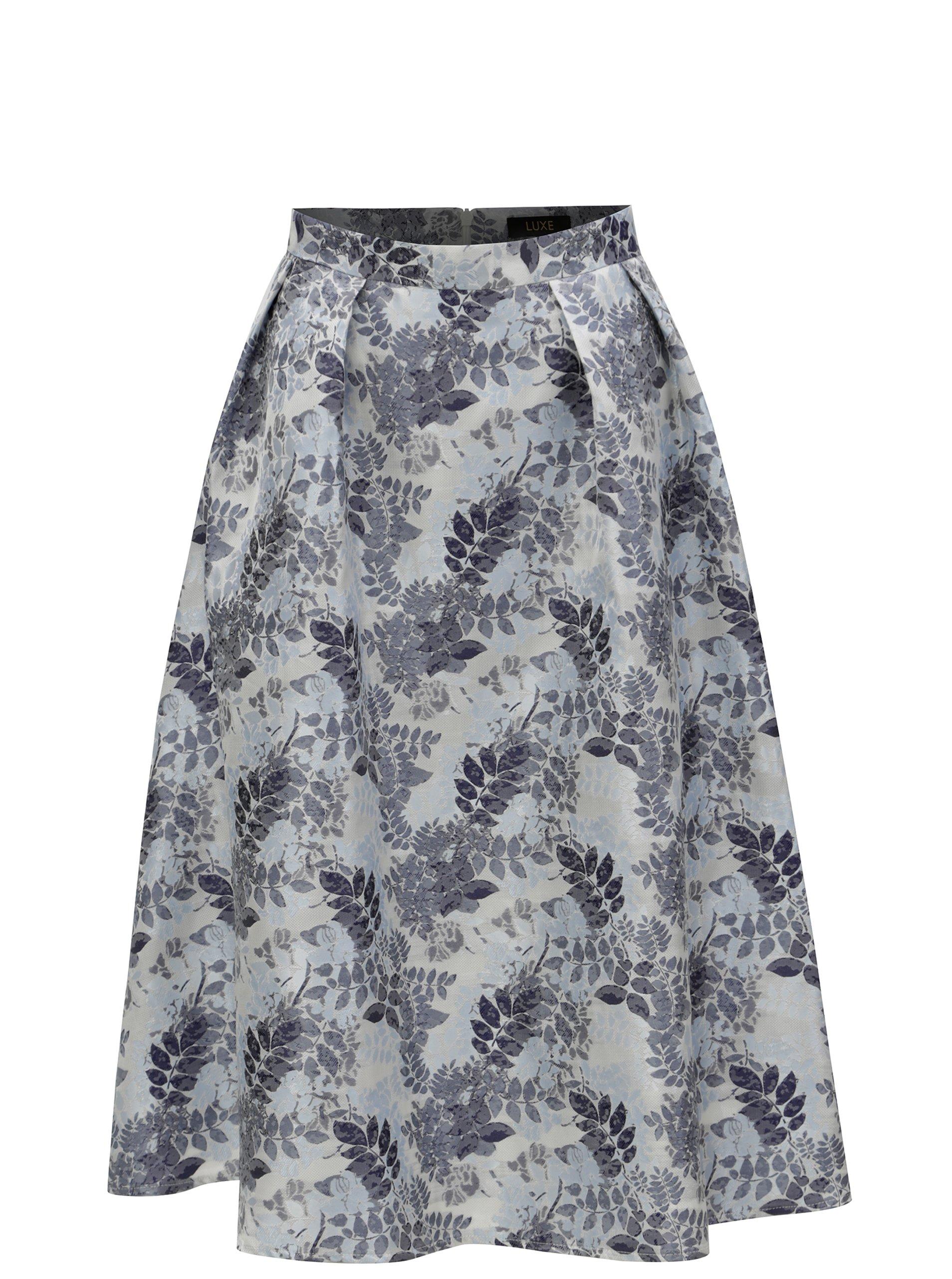 Modrá květovaná sukně Dorothy Perkins