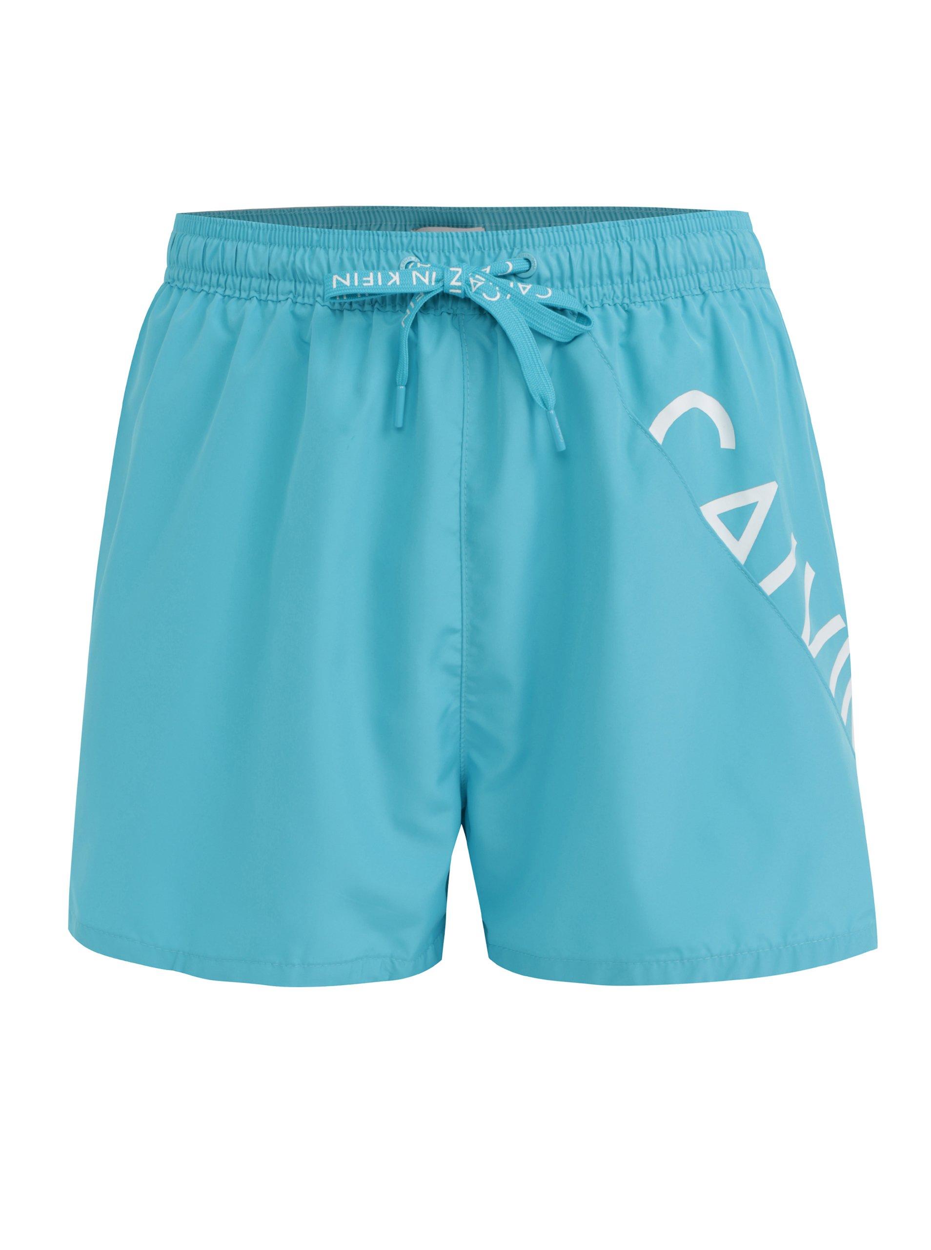 Světle modré pánské plavky Calvin Klein