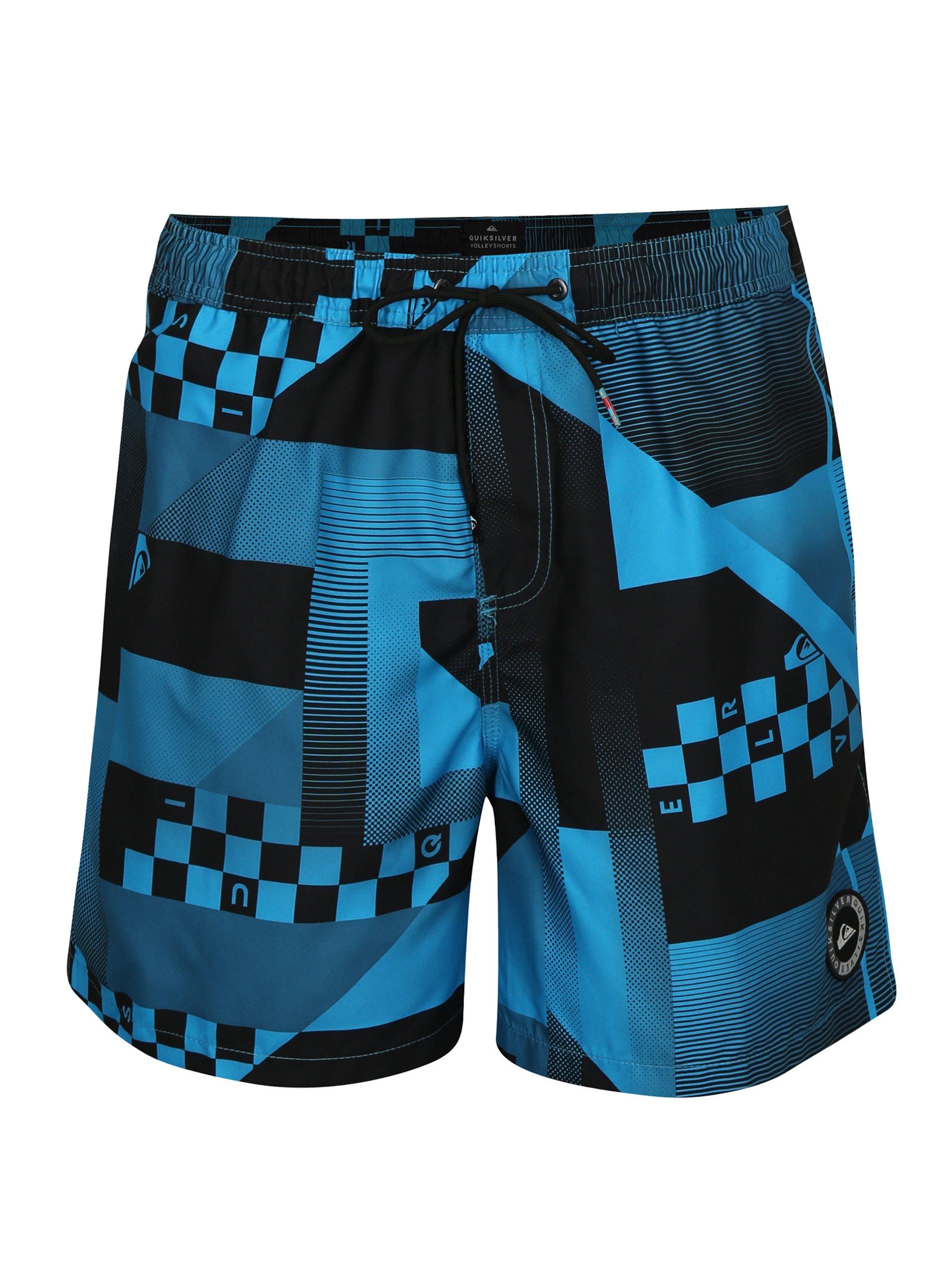 f48c047eb1 Čierno-modré pánske vzorované plavky Quiksilver