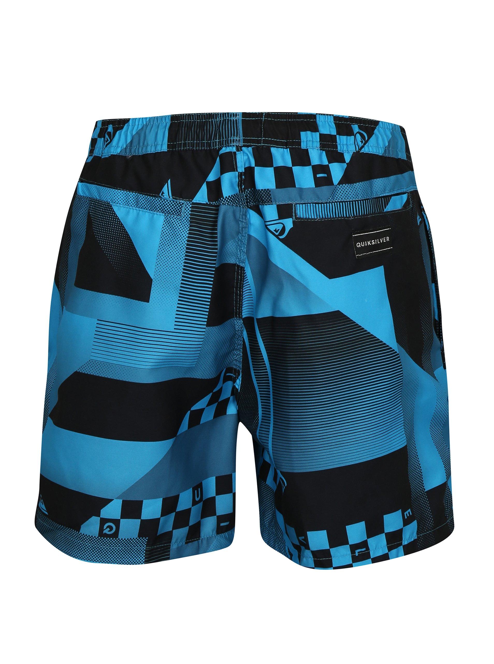 3cc9381b866 Černo-modré pánské vzorované plavky Quiksilver