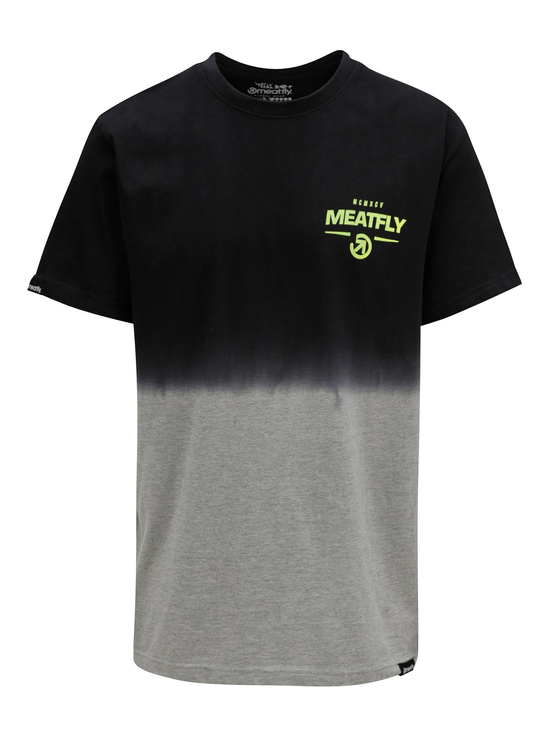 Sivo-čierne pánske tričko MEATFLY Spill