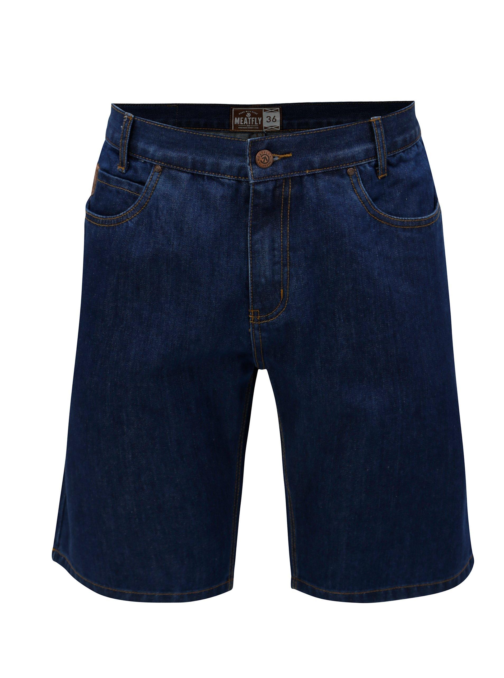 Modré pánské džínové kraťasy MEATFLY Just 49ccc7623c