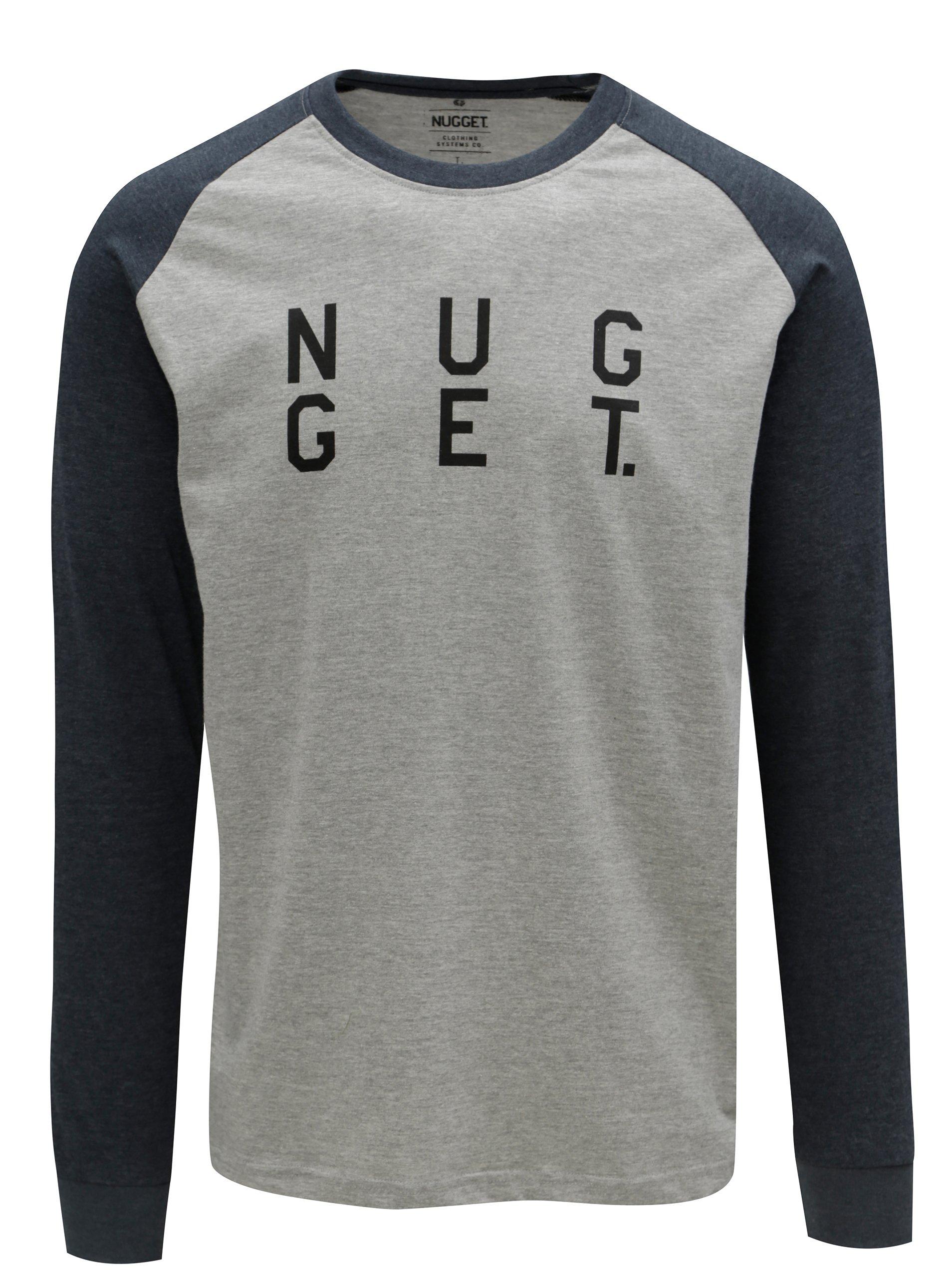 a1c6abeb5a64 Modro-sivé pánske tričko s potlačou NUGGET Complex
