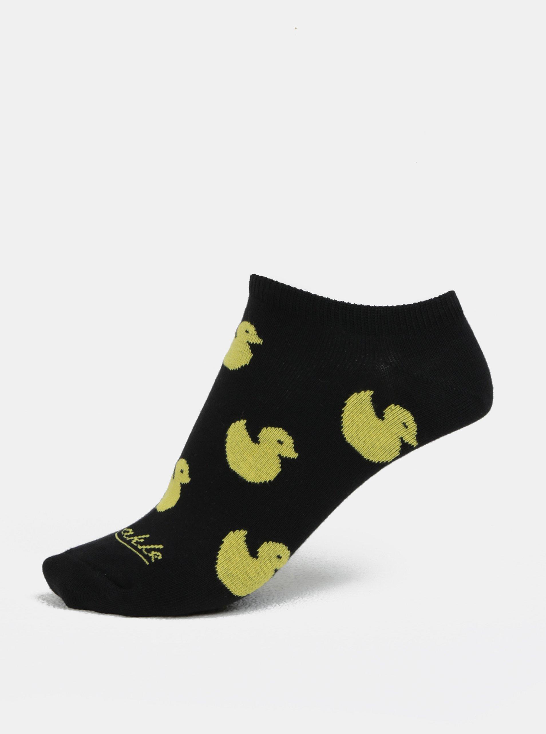 Černé unisex kotníkové ponožky Fusakle Gumikacka