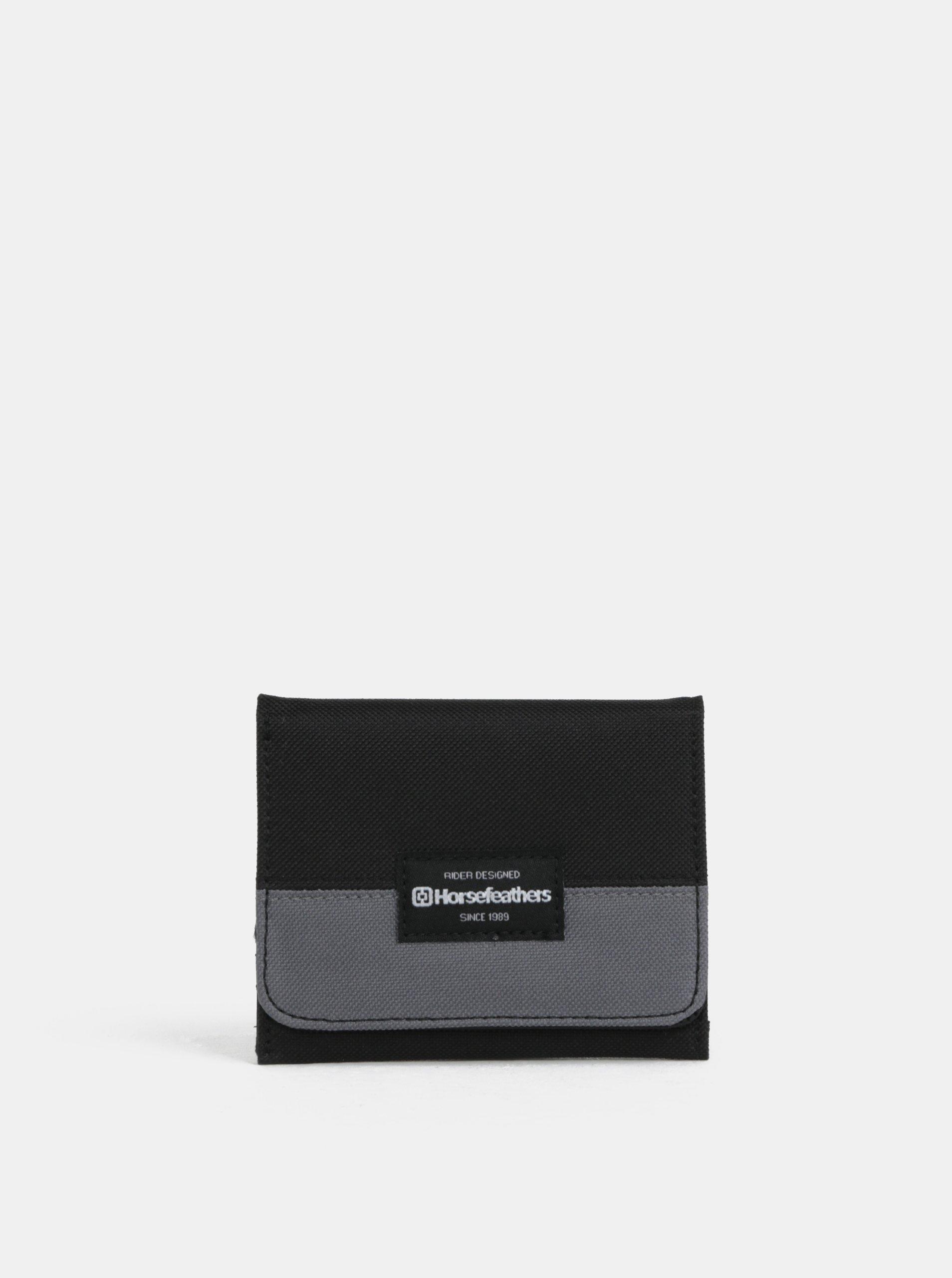 Černá pánská peněženka Horsefeathers Pronton