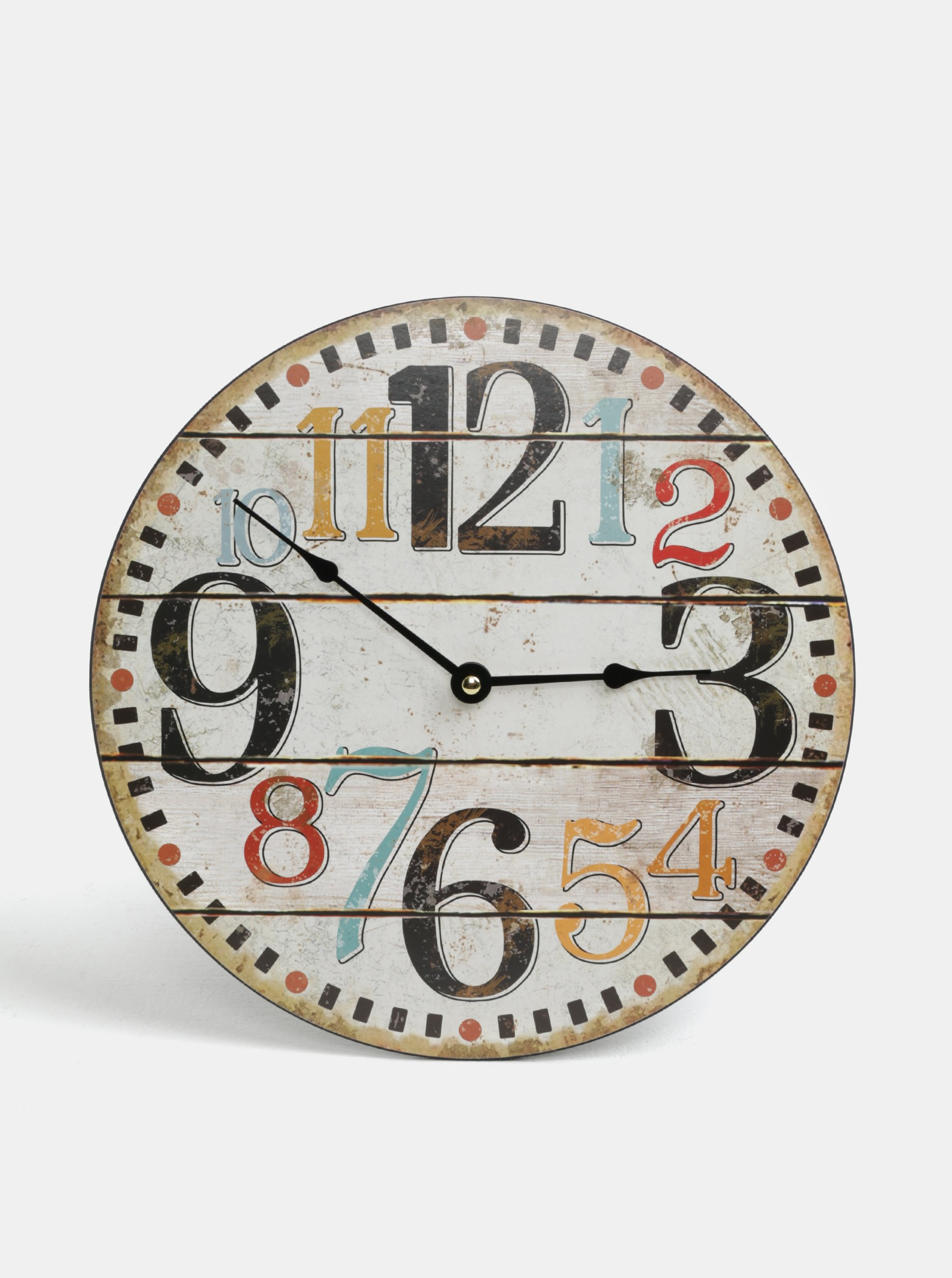 Hnedé drevené hodiny Dakls