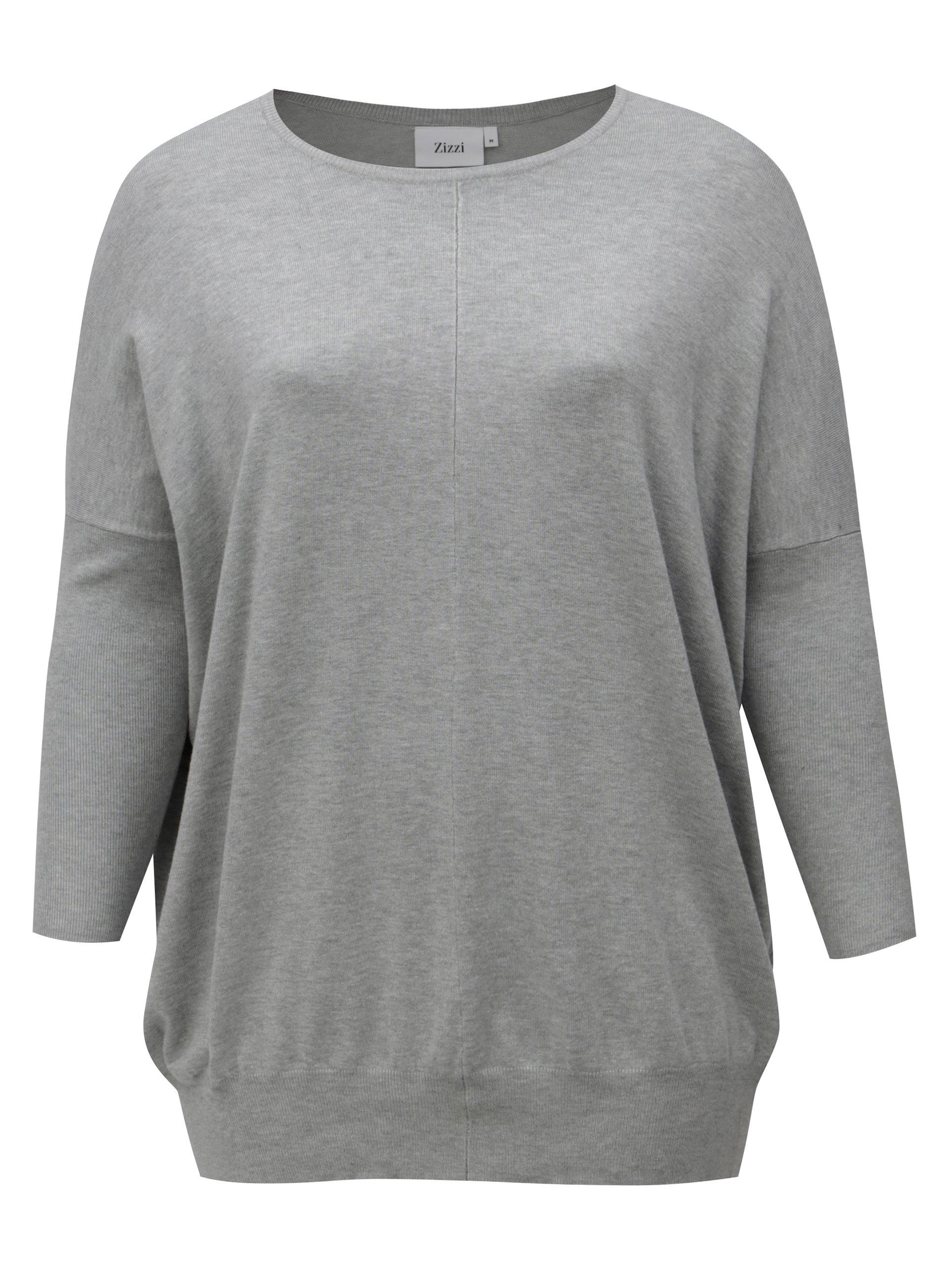 6fddf26a442 Dlouhy damsky svetr fashion sedy