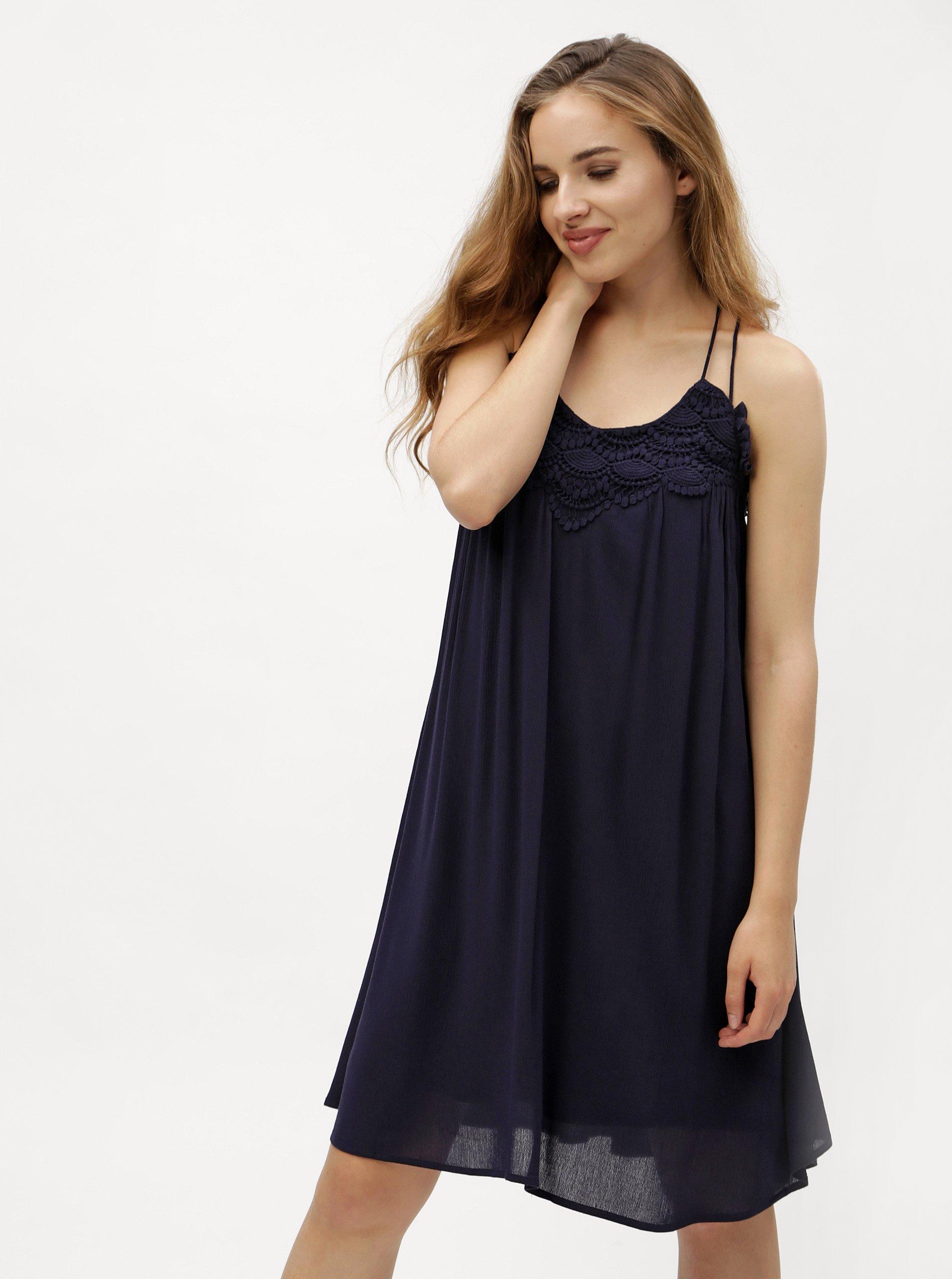 Tmavě modré šaty VERO MODA Fiona