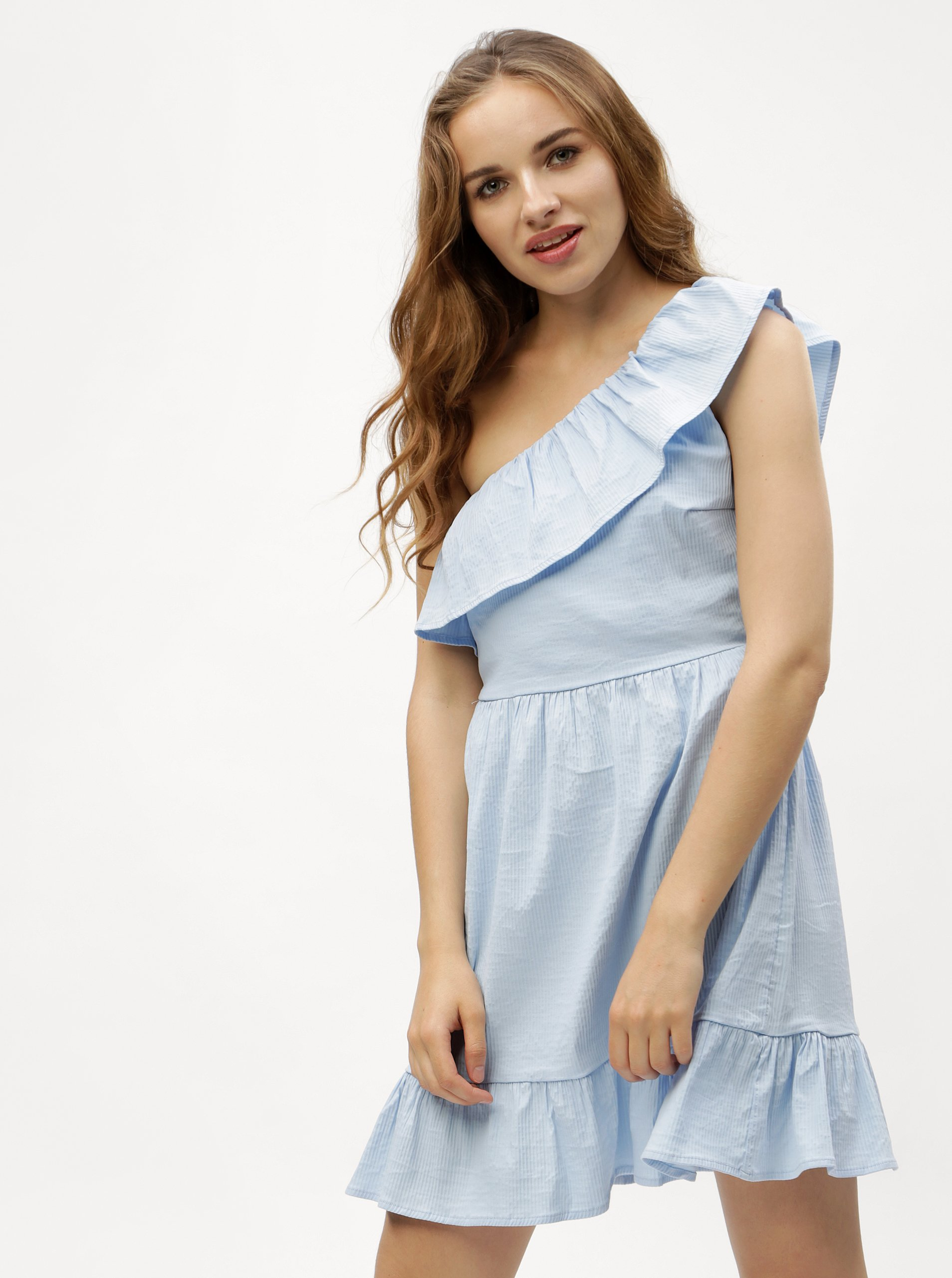 Světle modré asymetrické šaty VERO MODA Sia 3bf08dbcd8