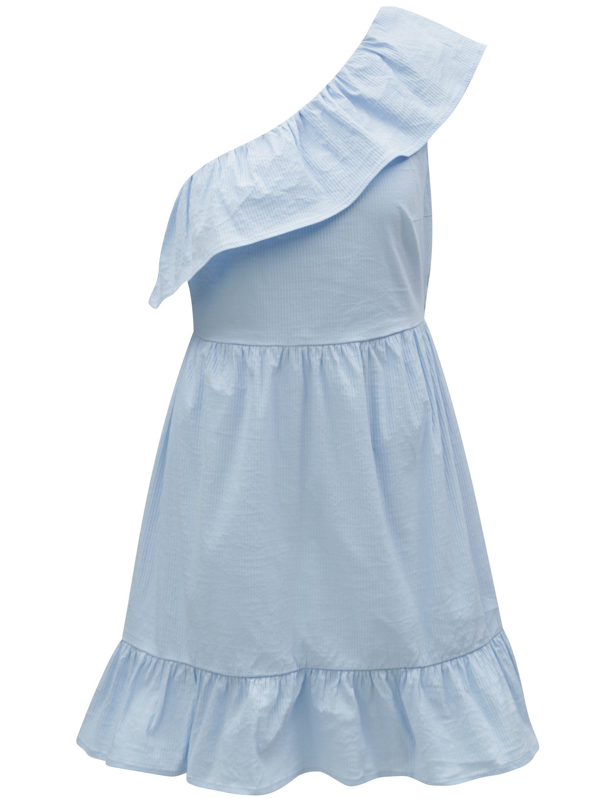 Světle modré asymetrické šaty VERO MODA Sia