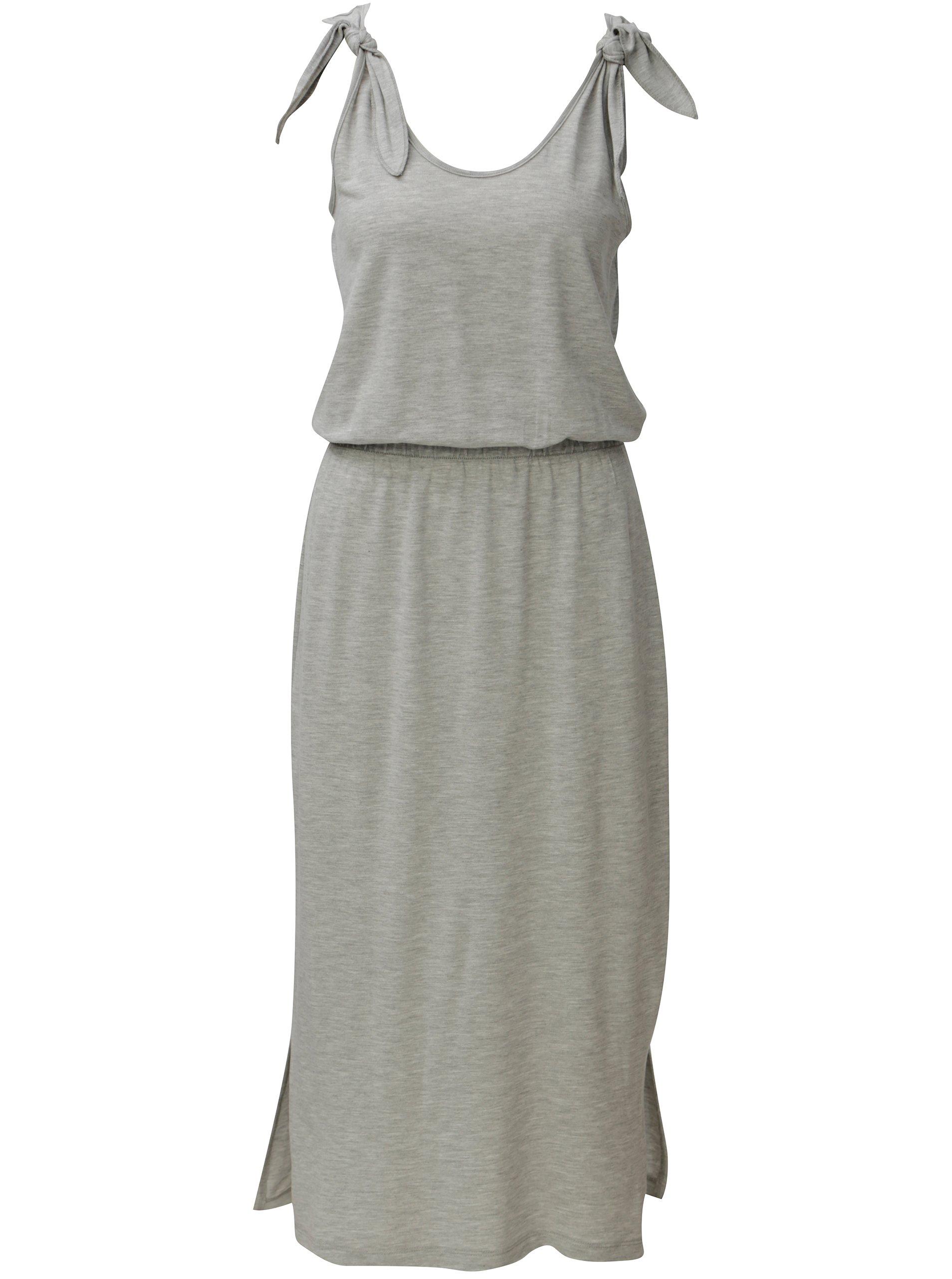 Světle šedé žíhané šaty VERO MODA Diana