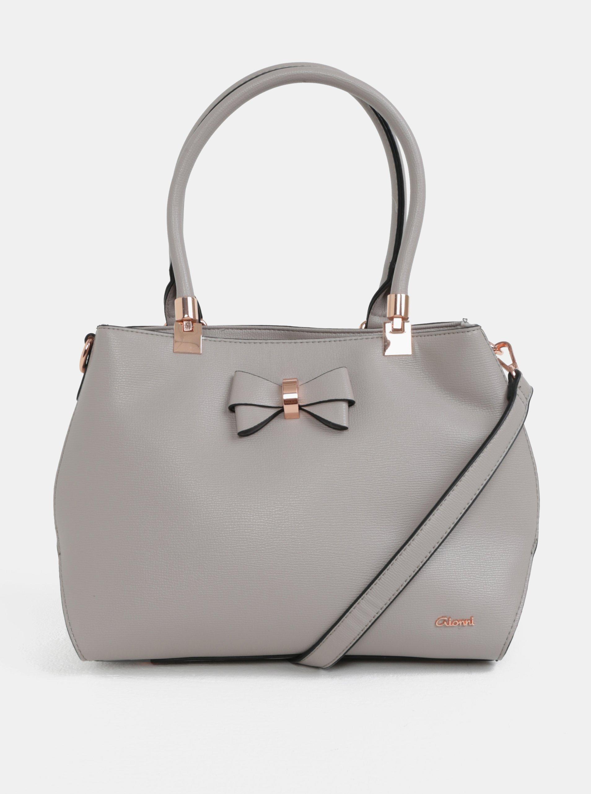 Šedá kabelka s mašlí Gionni Avril