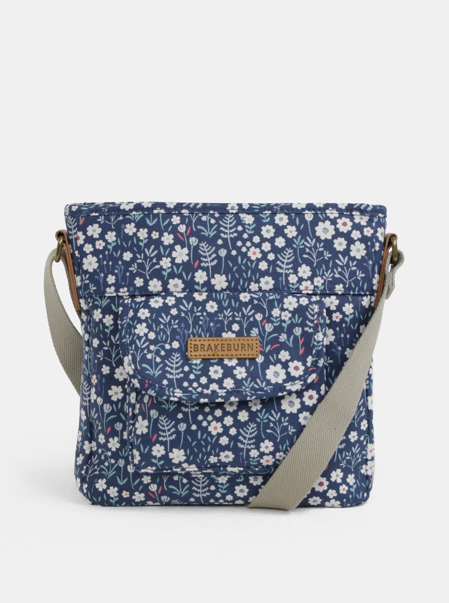 Tmavě modrá crossbody květovaná kabelka Brakeburn e4bbf0d1e36